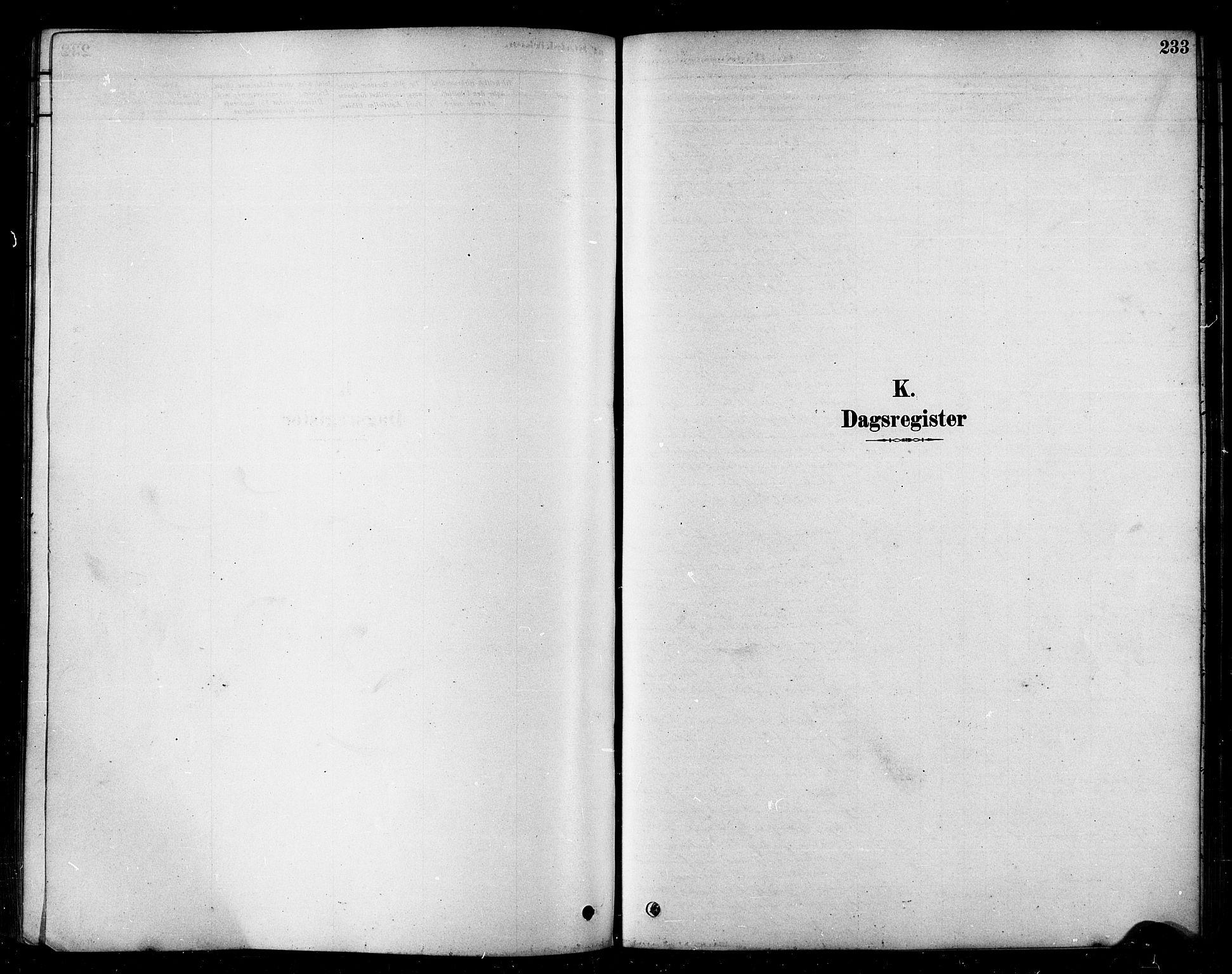 SATØ, Måsøy sokneprestkontor, H/Ha/L0004kirke: Ministerialbok nr. 4, 1878-1891, s. 233