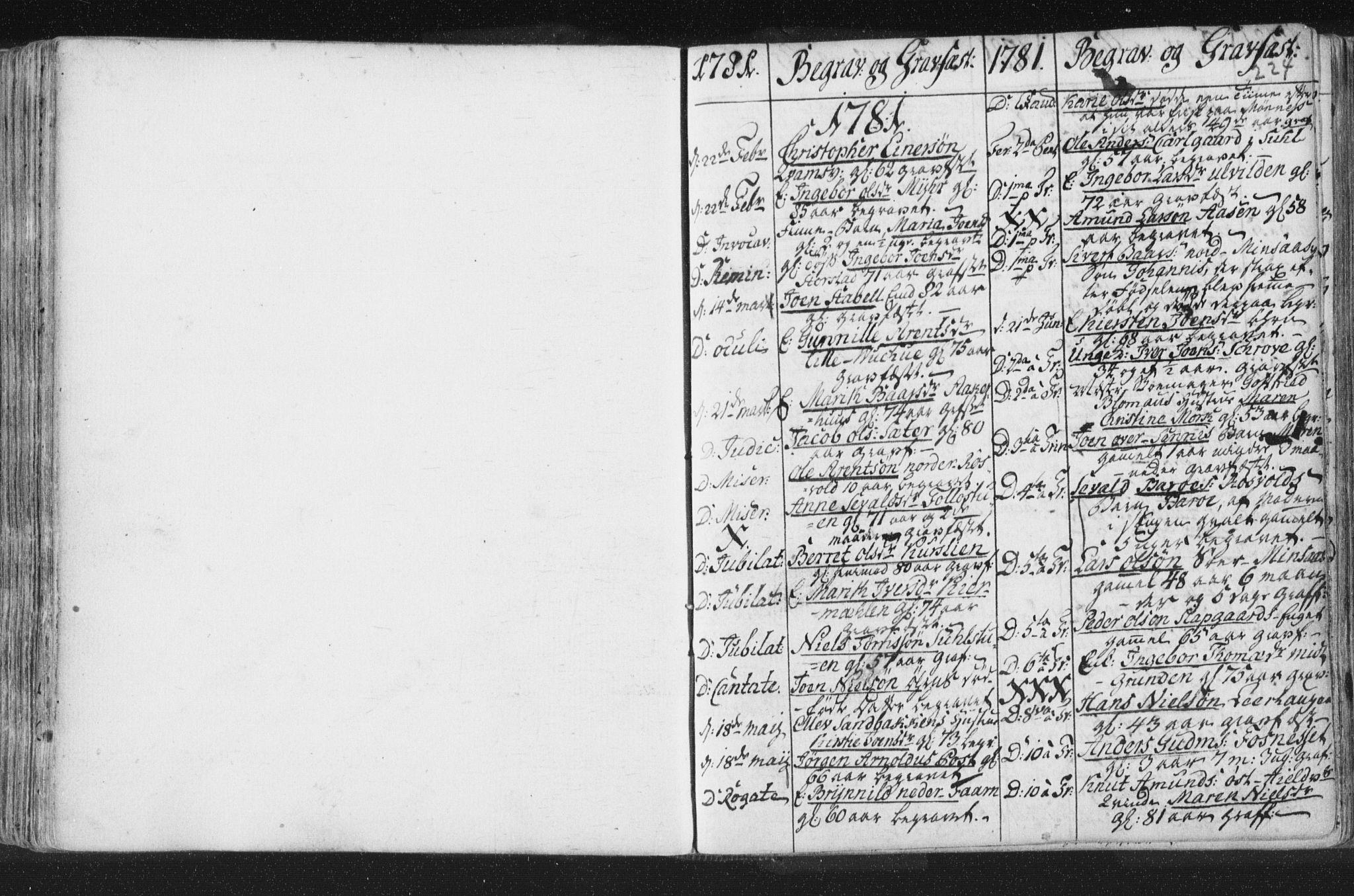 SAT, Ministerialprotokoller, klokkerbøker og fødselsregistre - Nord-Trøndelag, 723/L0232: Ministerialbok nr. 723A03, 1781-1804, s. 224