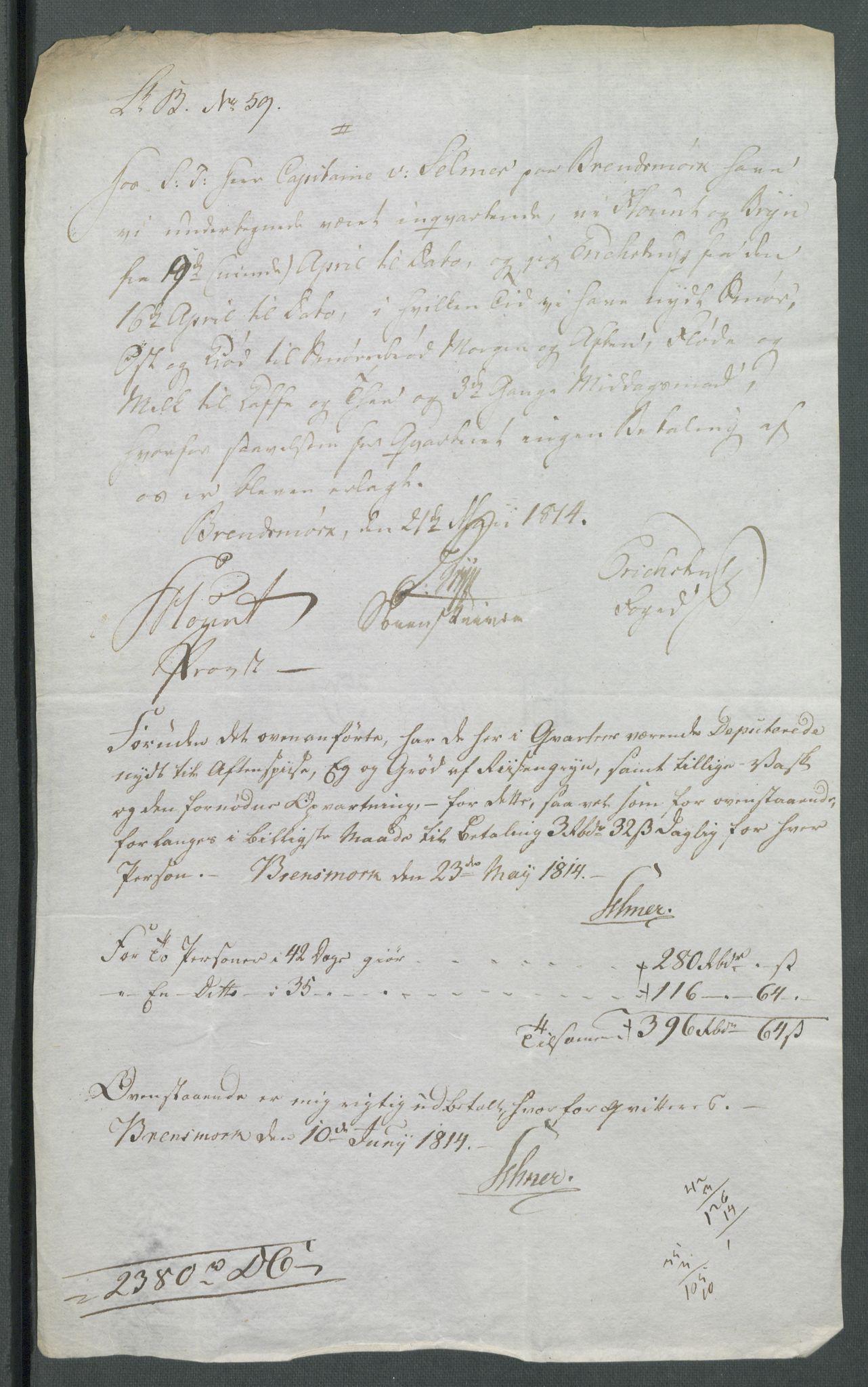 RA, 5. departement for finans-, handels- og tollfaget, C/Cb/L0014: Regninger fra Riksforsamlingens deputerede, 1814, s. 31