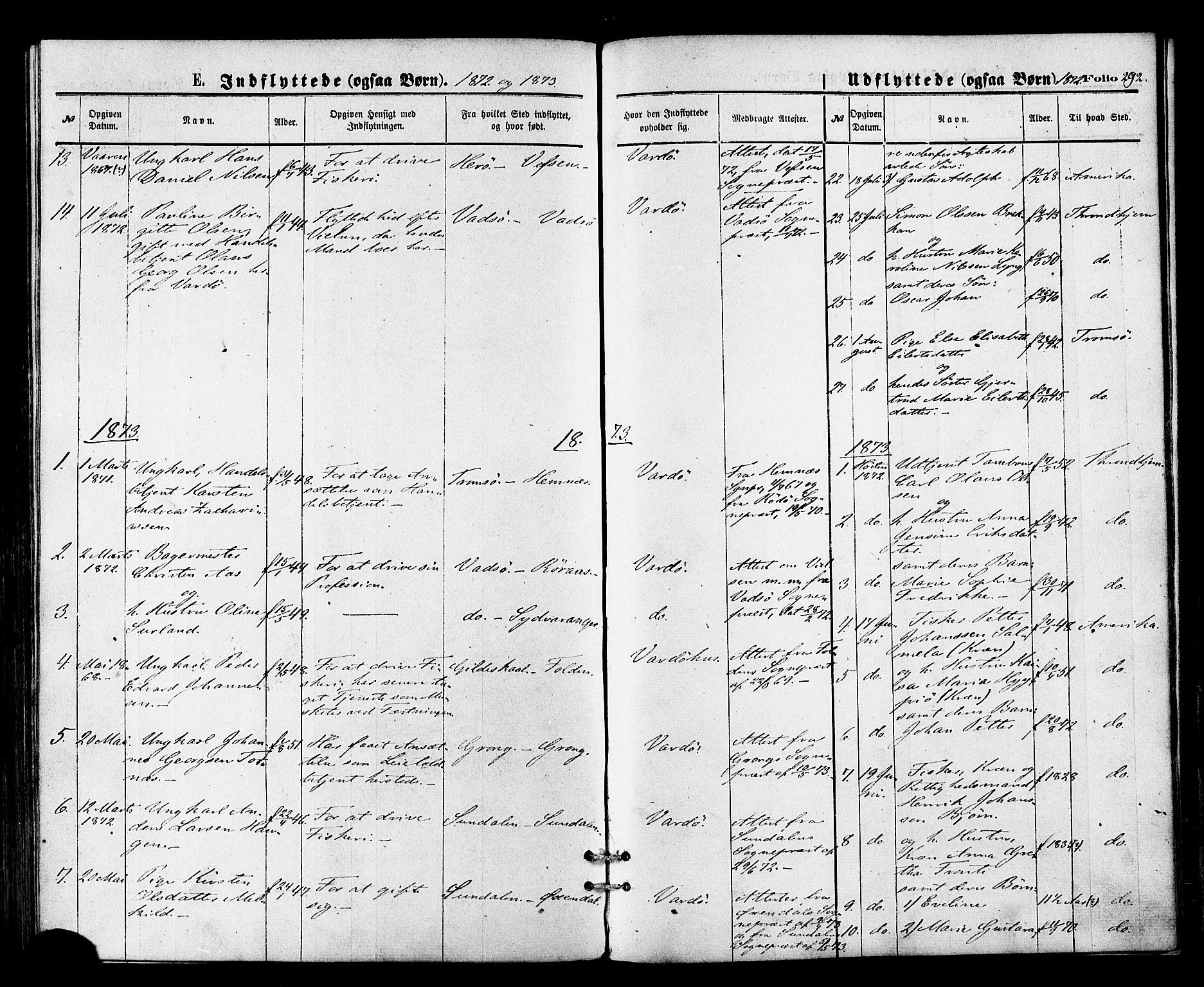 SATØ, Vardø sokneprestkontor, H/Ha/L0005kirke: Ministerialbok nr. 5, 1872-1878, s. 292