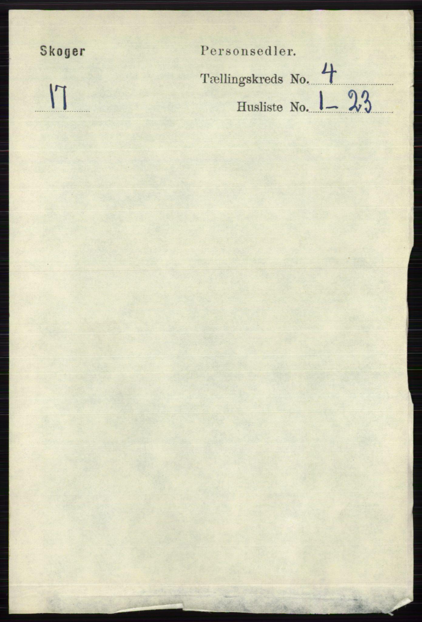 RA, Folketelling 1891 for 0712 Skoger herred, 1891, s. 2260