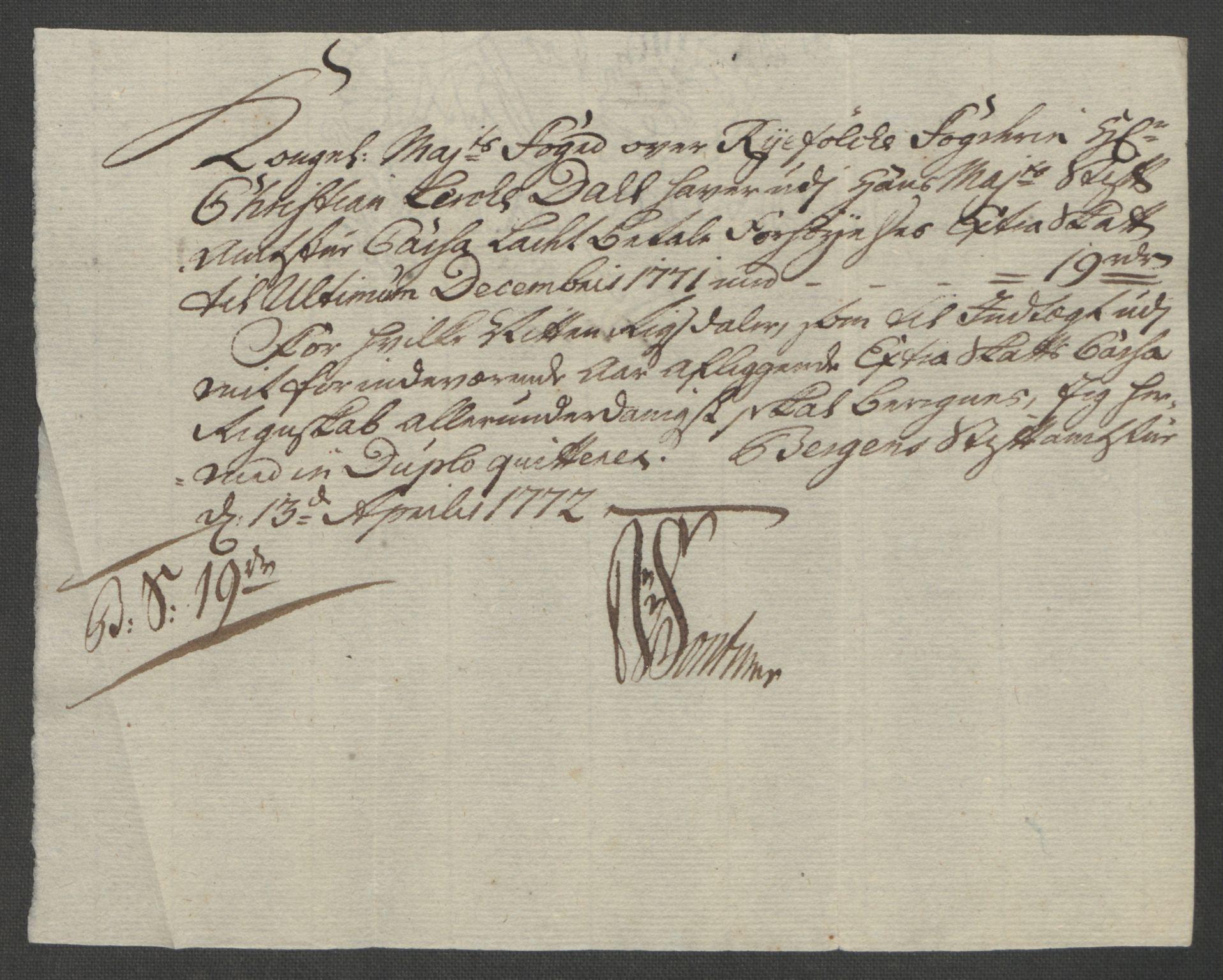 RA, Rentekammeret inntil 1814, Reviderte regnskaper, Fogderegnskap, R47/L2972: Ekstraskatten Ryfylke, 1762-1780, s. 287