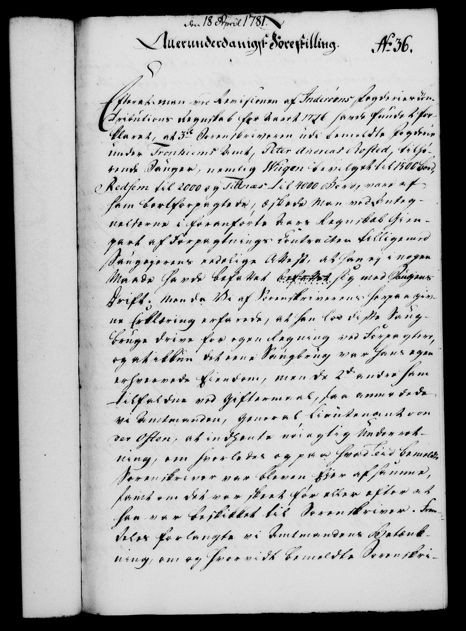 RA, Rentekammeret, Kammerkanselliet, G/Gf/Gfa/L0063: Norsk relasjons- og resolusjonsprotokoll (merket RK 52.63), 1781, s. 322