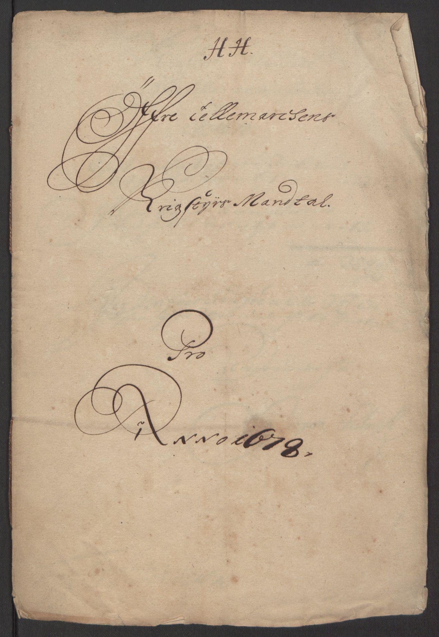 RA, Rentekammeret inntil 1814, Reviderte regnskaper, Fogderegnskap, R35/L2071: Fogderegnskap Øvre og Nedre Telemark, 1678, s. 162