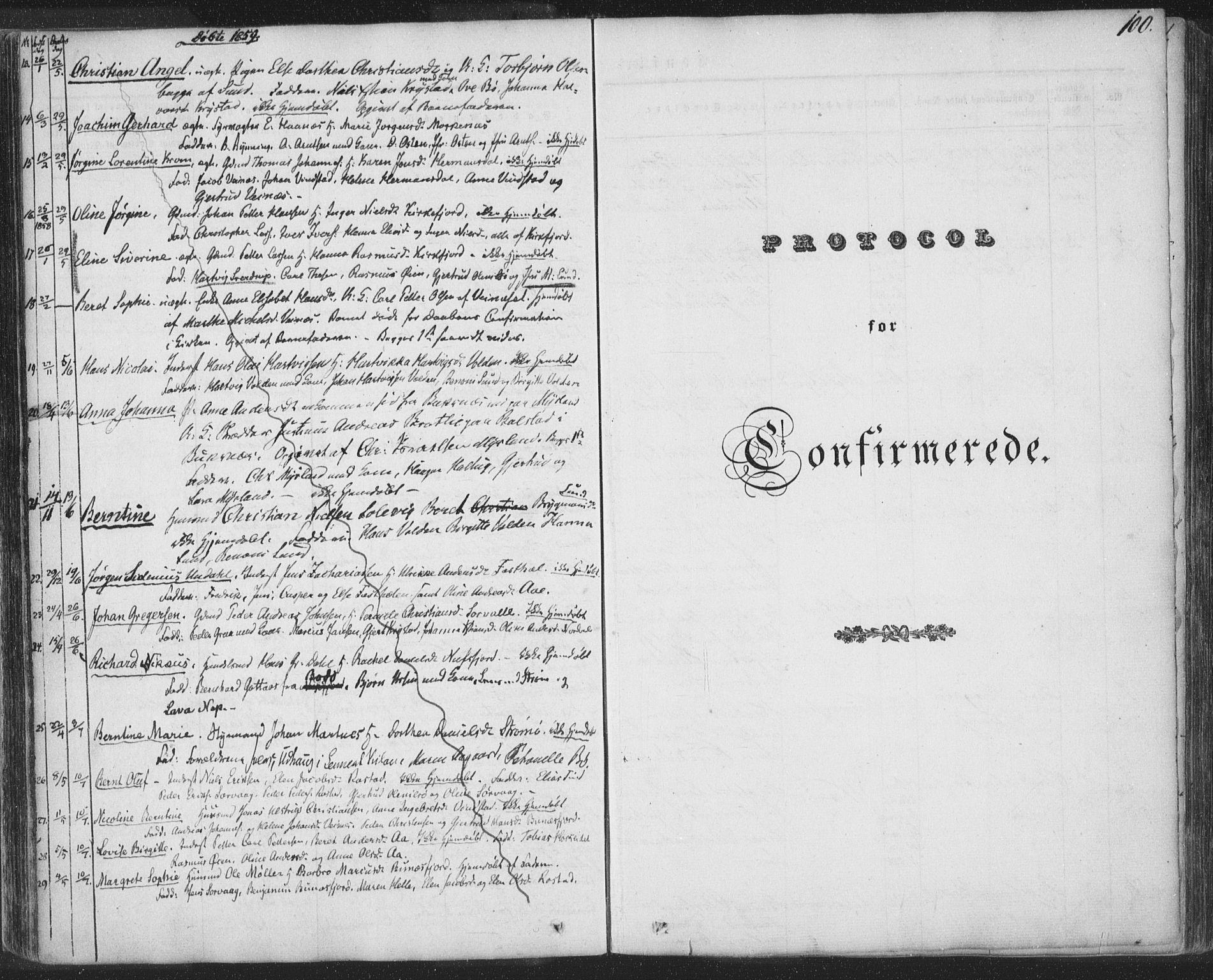 SAT, Ministerialprotokoller, klokkerbøker og fødselsregistre - Nordland, 885/L1202: Ministerialbok nr. 885A03, 1838-1859, s. 100