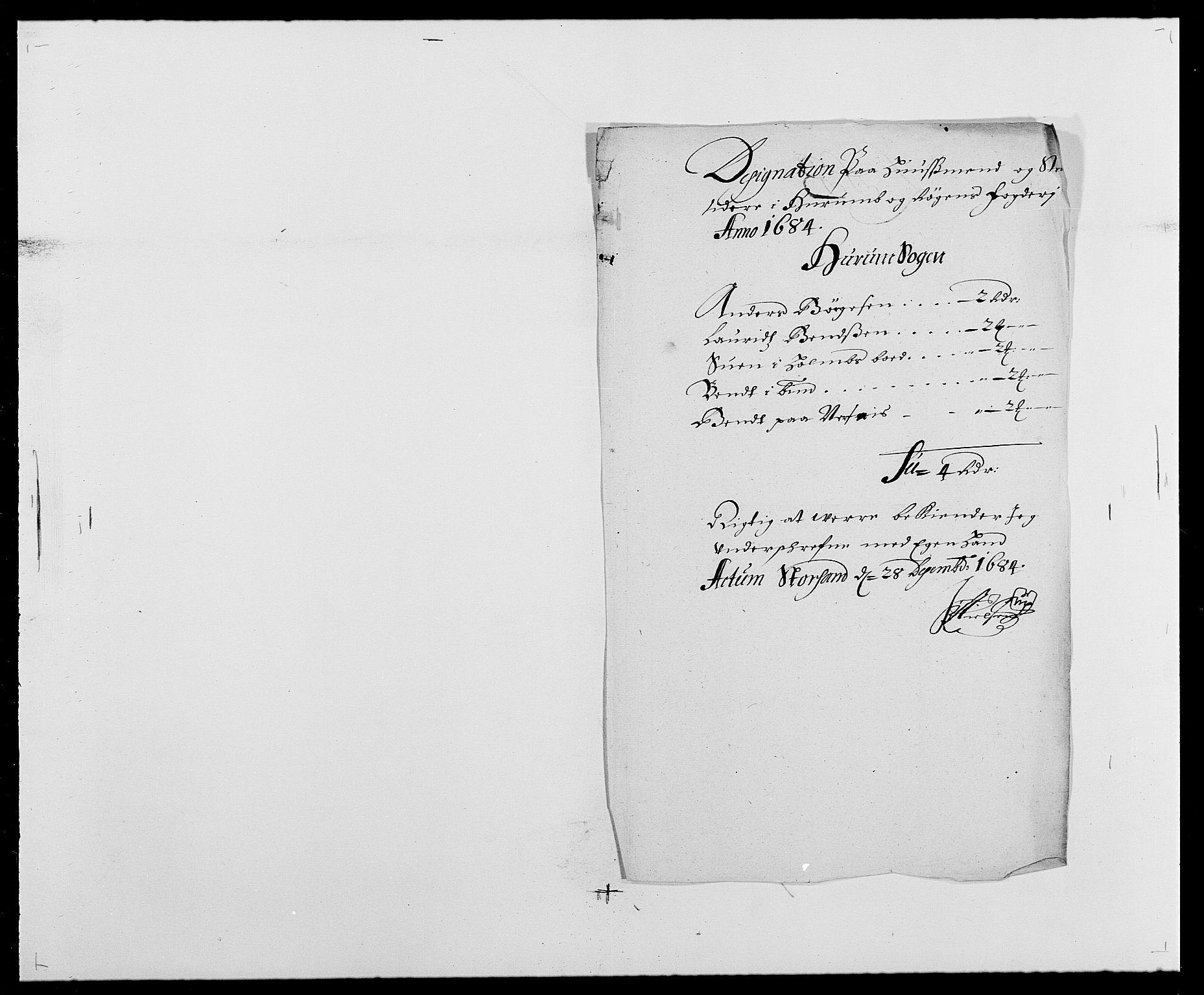 RA, Rentekammeret inntil 1814, Reviderte regnskaper, Fogderegnskap, R29/L1692: Fogderegnskap Hurum og Røyken, 1682-1687, s. 209