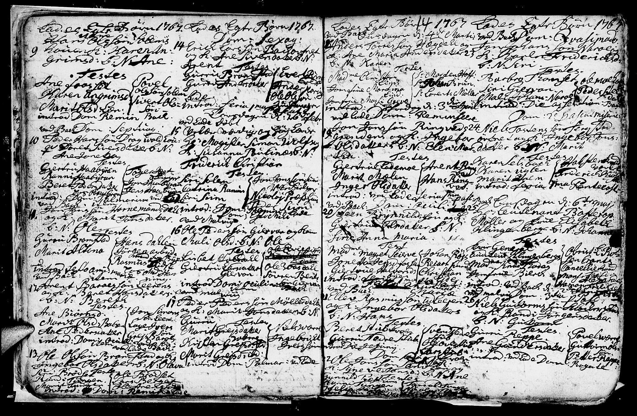 SAT, Ministerialprotokoller, klokkerbøker og fødselsregistre - Sør-Trøndelag, 606/L0305: Klokkerbok nr. 606C01, 1757-1819, s. 14