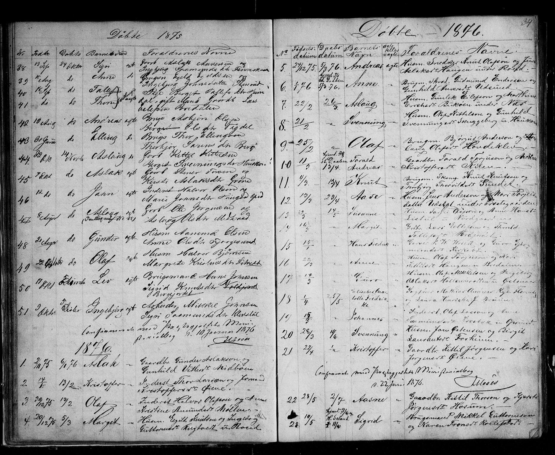 SAKO, Kviteseid kirkebøker, G/Ga/L0001: Klokkerbok nr. I 1, 1850-1893, s. 34