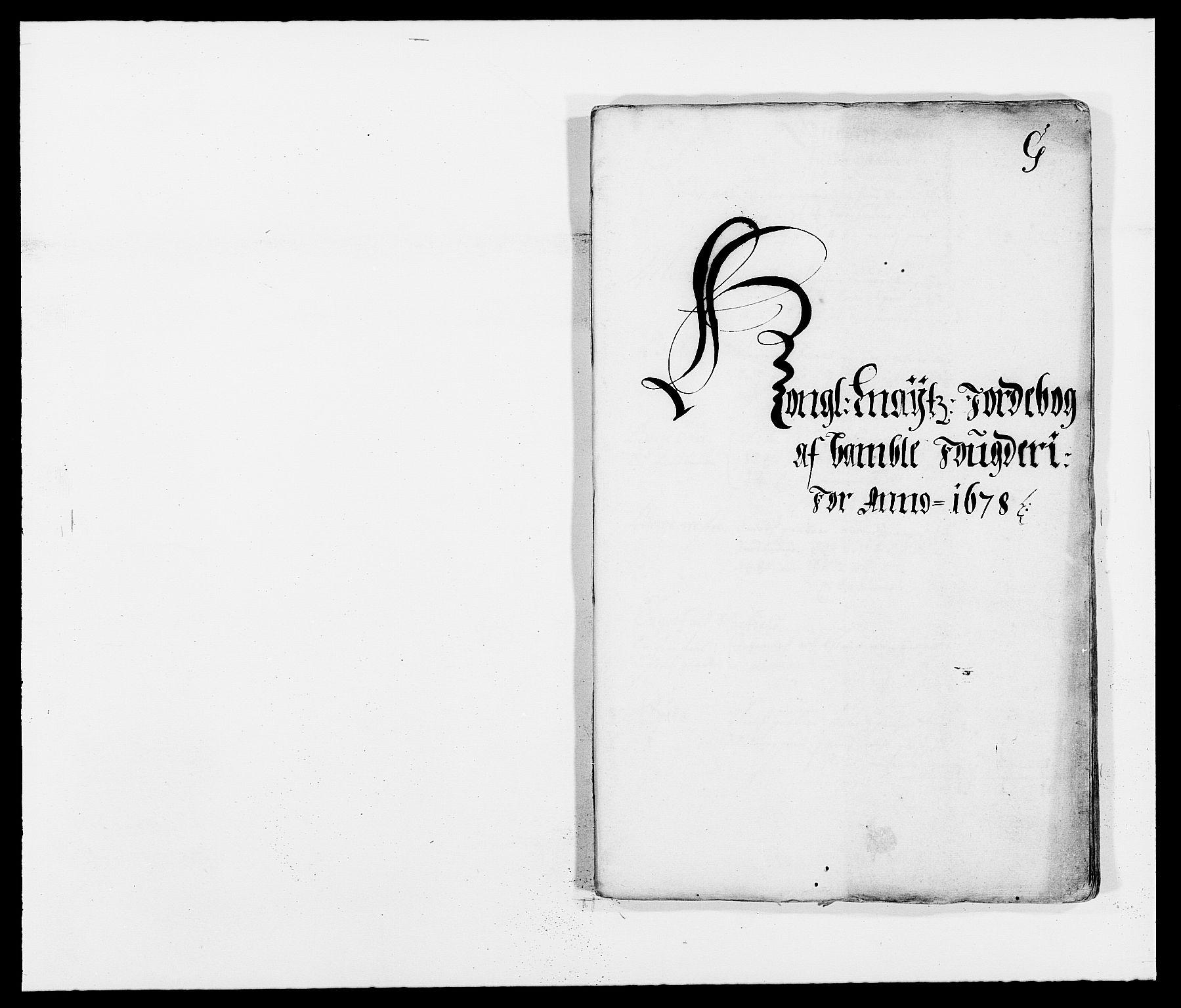 RA, Rentekammeret inntil 1814, Reviderte regnskaper, Fogderegnskap, R34/L2044: Fogderegnskap Bamble, 1678-1679, s. 167
