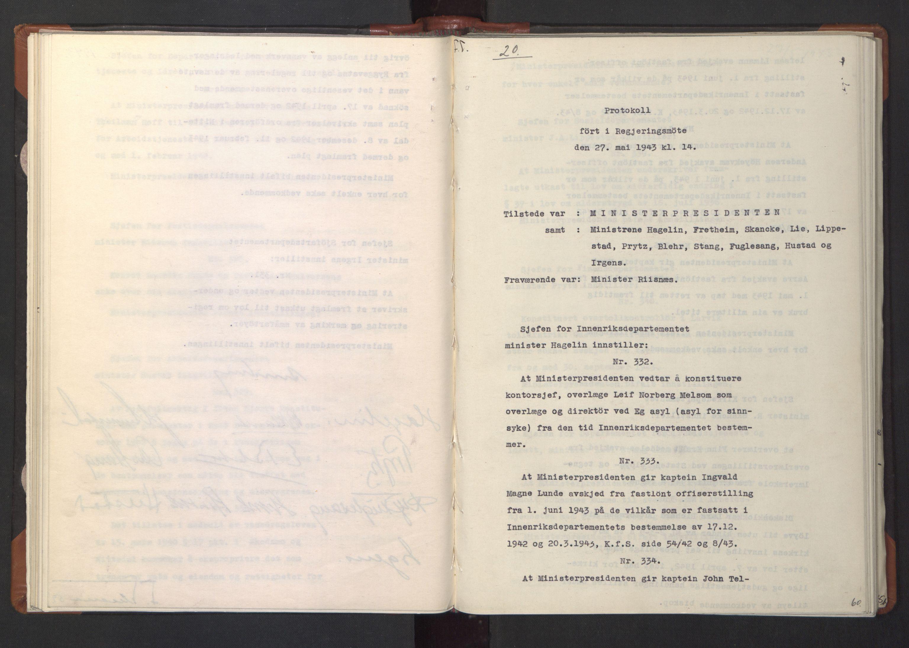 RA, NS-administrasjonen 1940-1945 (Statsrådsekretariatet, de kommisariske statsråder mm), D/Da/L0003: Vedtak (Beslutninger) nr. 1-746 og tillegg nr. 1-47 (RA. j.nr. 1394/1944, tilgangsnr. 8/1944, 1943, s. 59b-60a