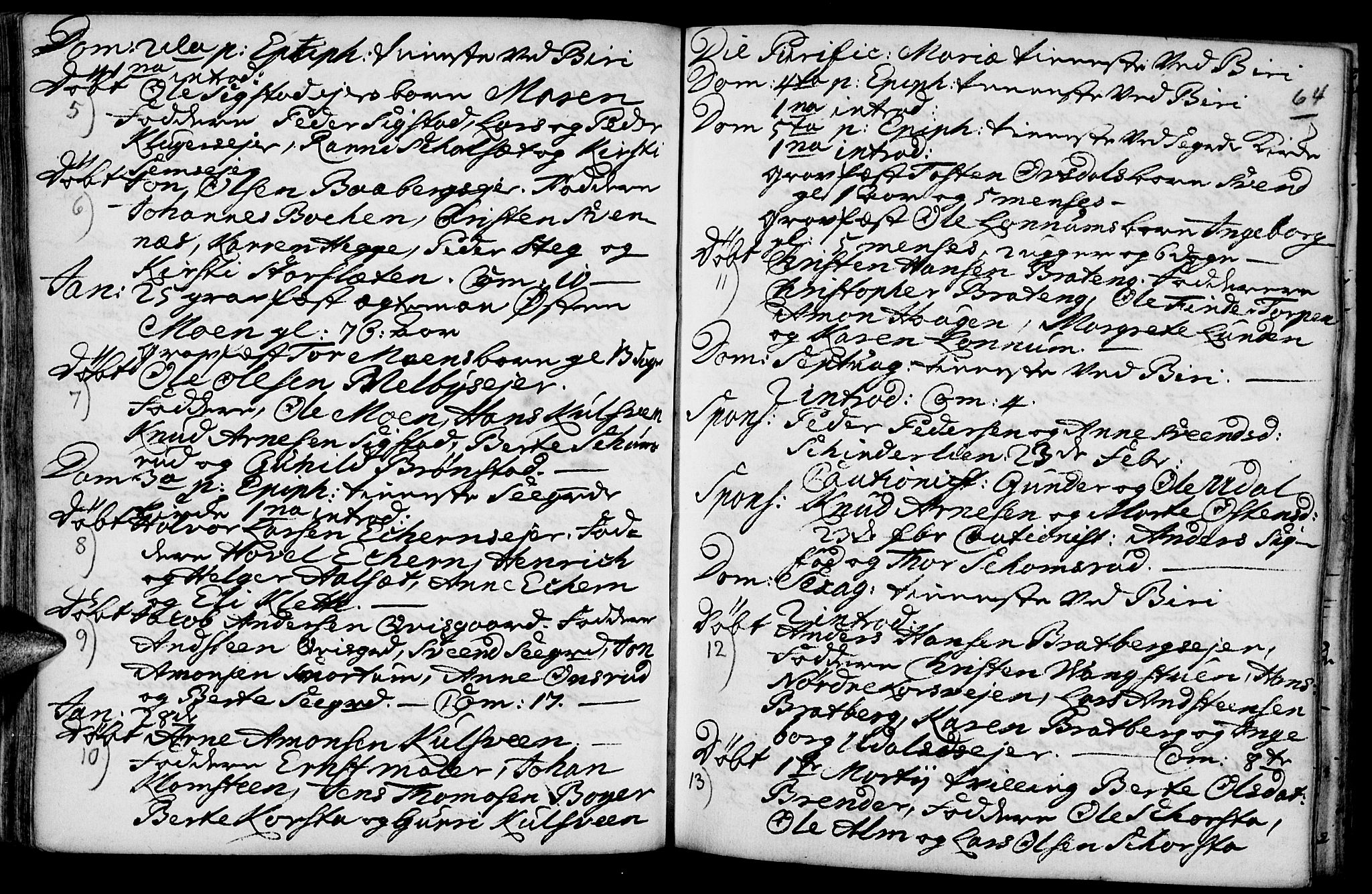 SAH, Biri prestekontor, Ministerialbok nr. 1, 1730-1754, s. 64