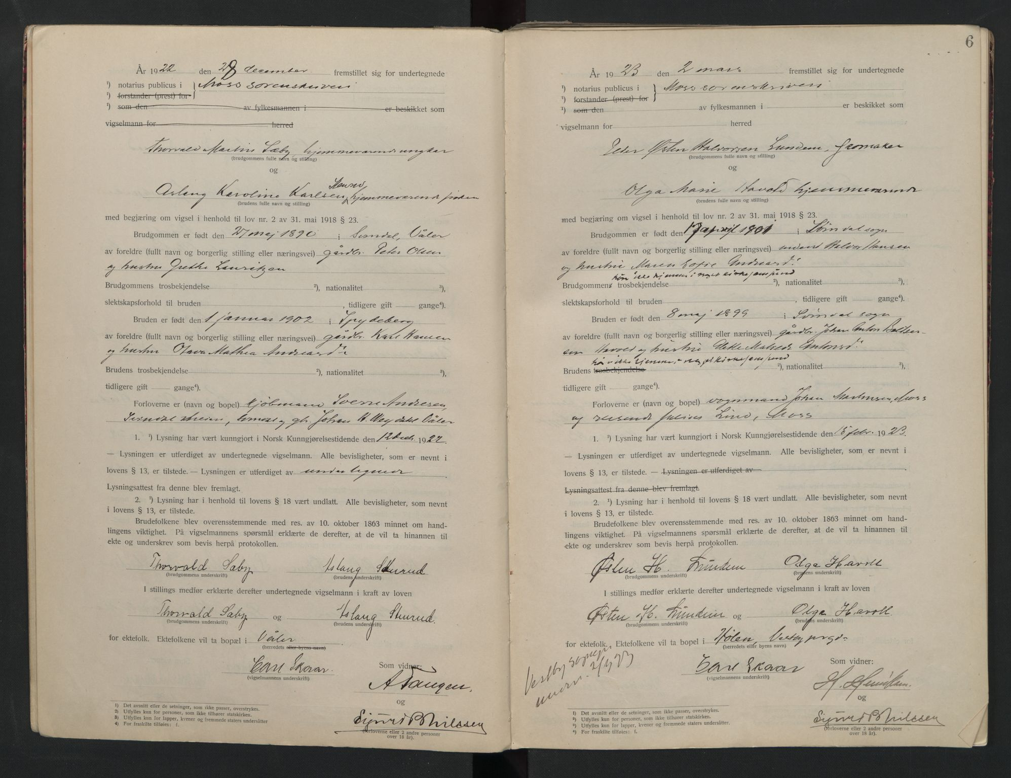 SAO, Moss sorenskriveri, 1921-1937, s. 6