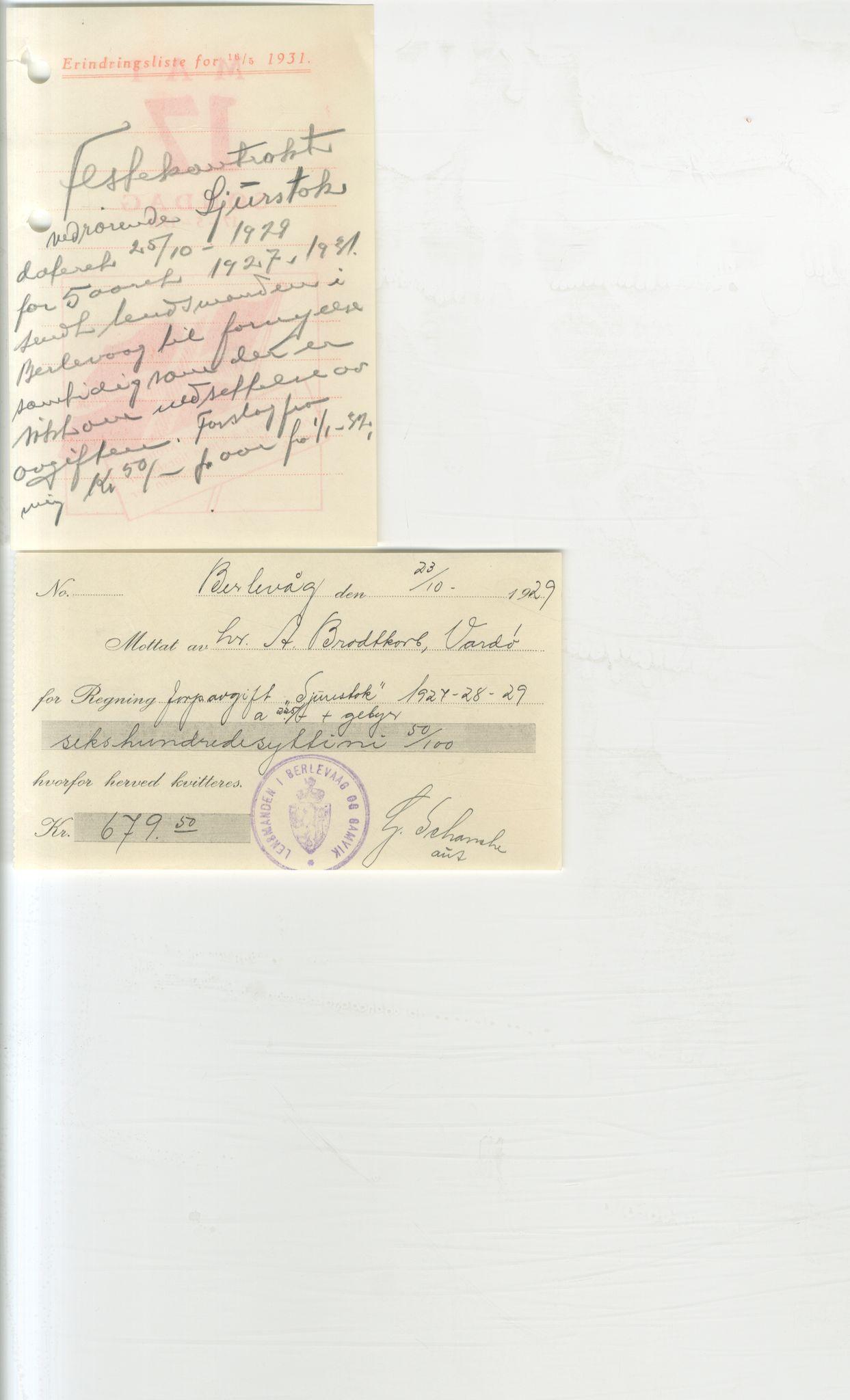 VAMU, Brodtkorb handel A/S, Q/Qb/L0003: Faste eiendommer i Vardø Herred, 1862-1939, s. 385