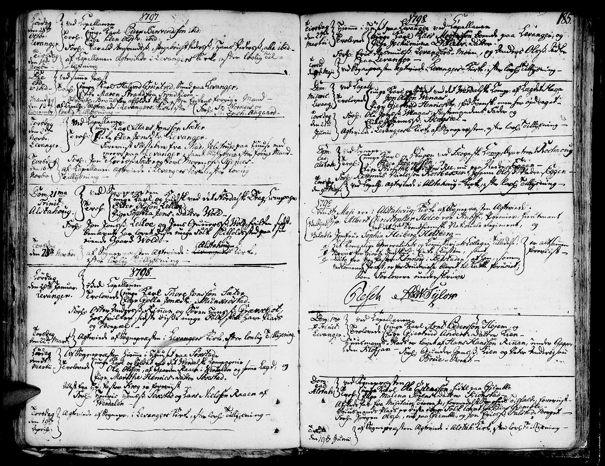 SAT, Ministerialprotokoller, klokkerbøker og fødselsregistre - Nord-Trøndelag, 717/L0142: Ministerialbok nr. 717A02 /1, 1783-1809, s. 185