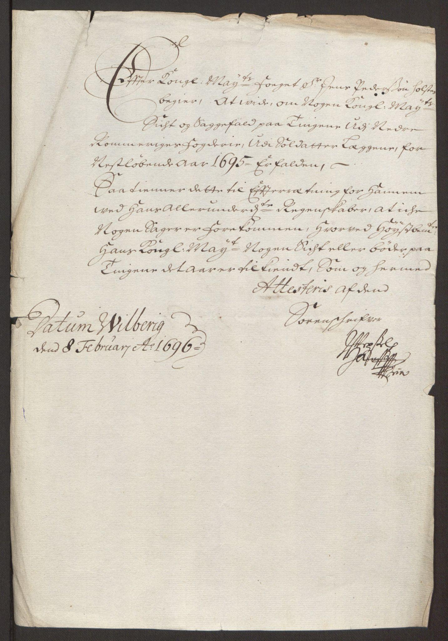 RA, Rentekammeret inntil 1814, Reviderte regnskaper, Fogderegnskap, R11/L0579: Fogderegnskap Nedre Romerike, 1694-1695, s. 247