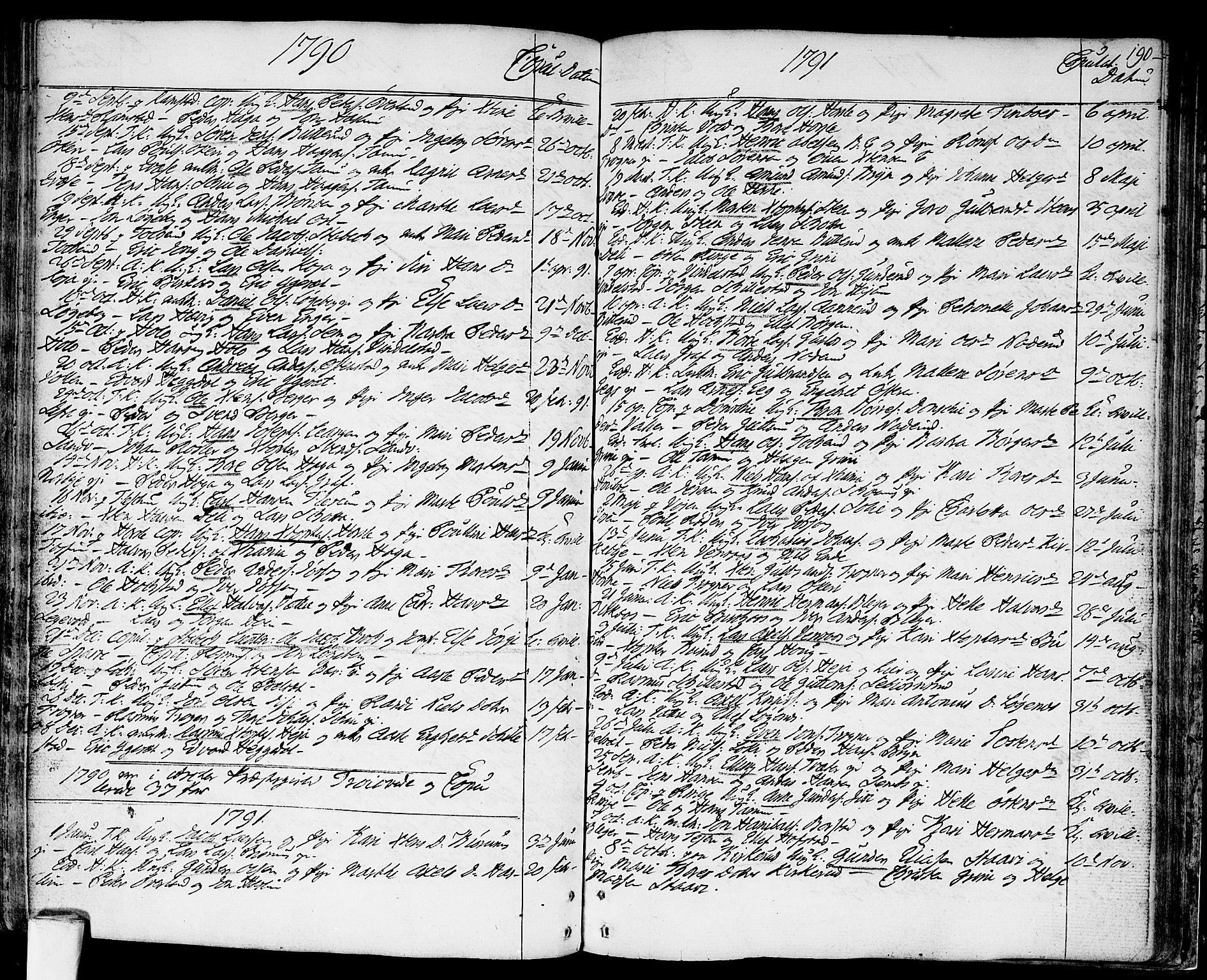 SAO, Asker prestekontor Kirkebøker, F/Fa/L0003: Ministerialbok nr. I 3, 1767-1807, s. 190