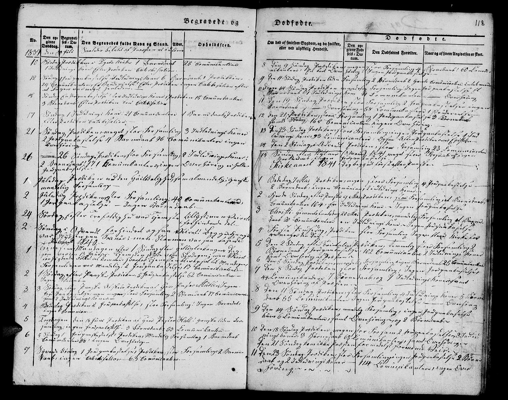 SATØ, Tranøy sokneprestkontor, I/Ia/Iab/L0010klokker: Klokkerbok nr. 10, 1835-1844, s. 118