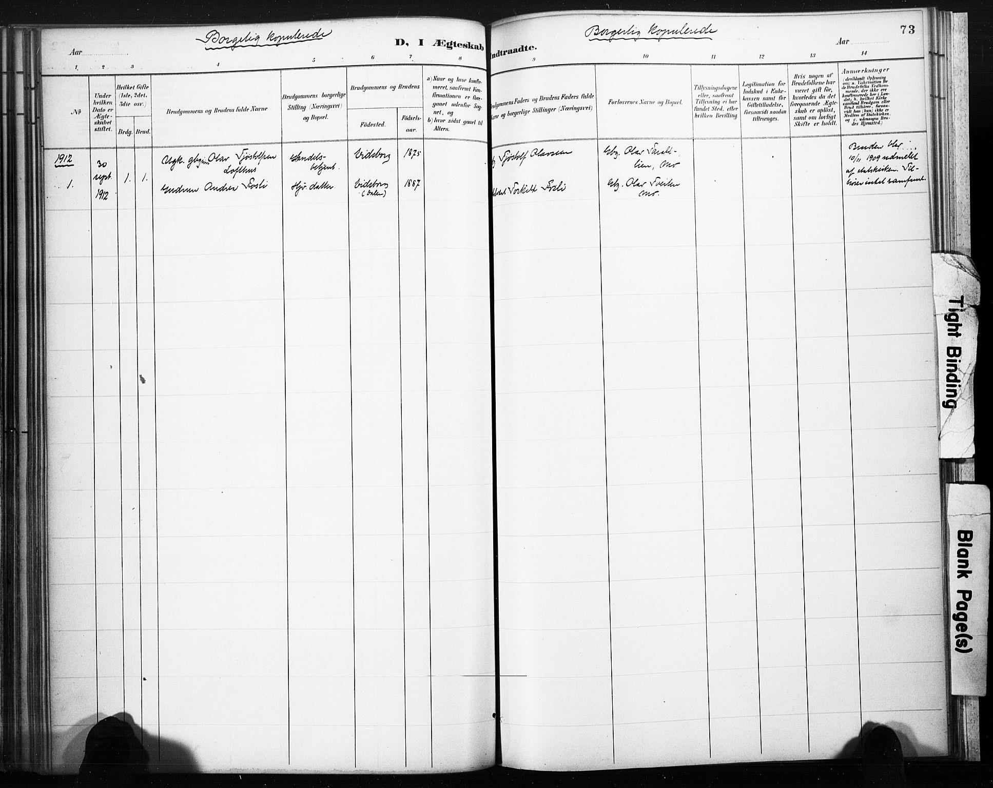SAKO, Lårdal kirkebøker, F/Fb/L0002: Ministerialbok nr. II 2, 1887-1918, s. 73