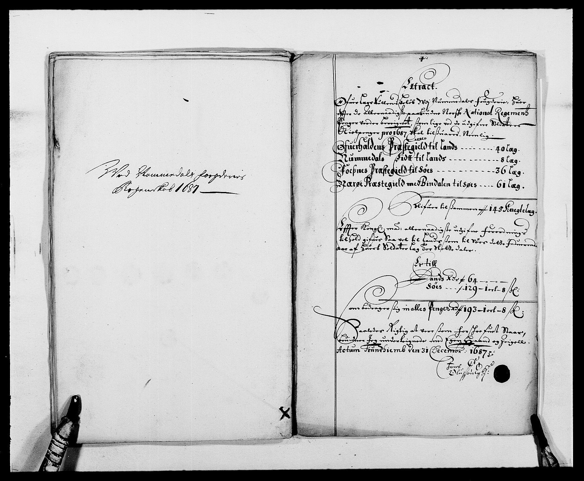 RA, Rentekammeret inntil 1814, Reviderte regnskaper, Fogderegnskap, R64/L4422: Fogderegnskap Namdal, 1687-1689, s. 28
