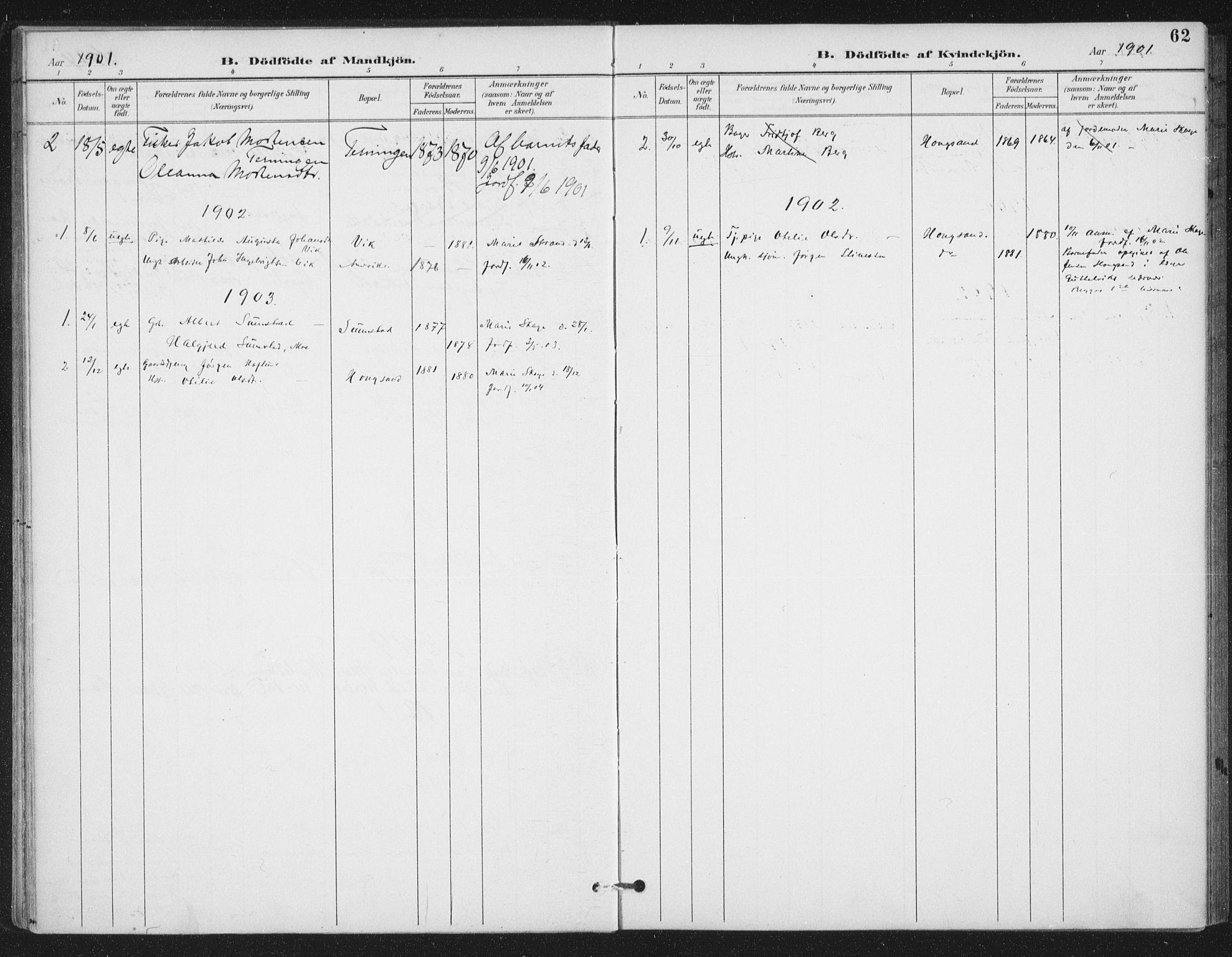 SAT, Ministerialprotokoller, klokkerbøker og fødselsregistre - Sør-Trøndelag, 657/L0708: Ministerialbok nr. 657A09, 1894-1904, s. 62