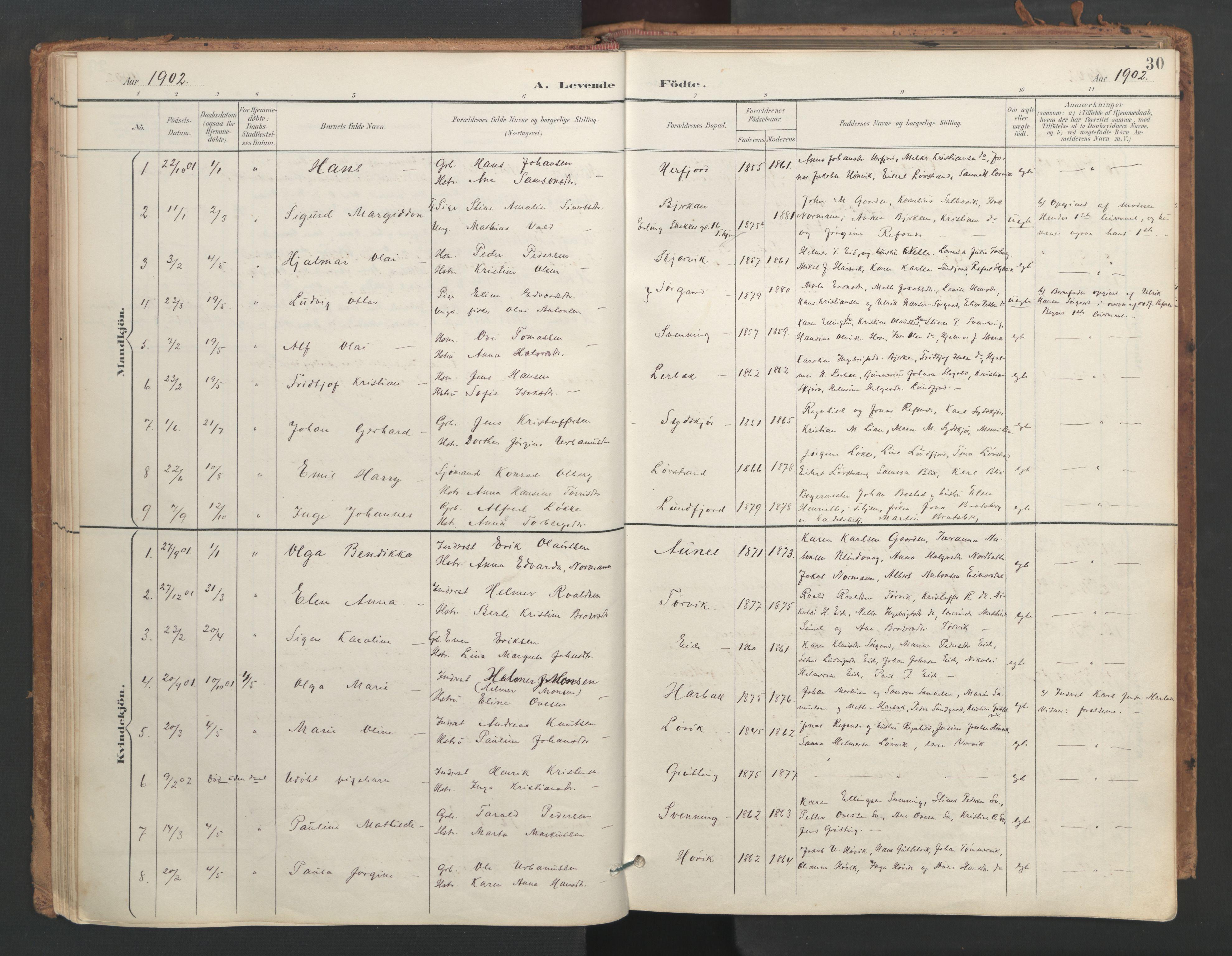 SAT, Ministerialprotokoller, klokkerbøker og fødselsregistre - Sør-Trøndelag, 656/L0693: Ministerialbok nr. 656A02, 1894-1913, s. 30