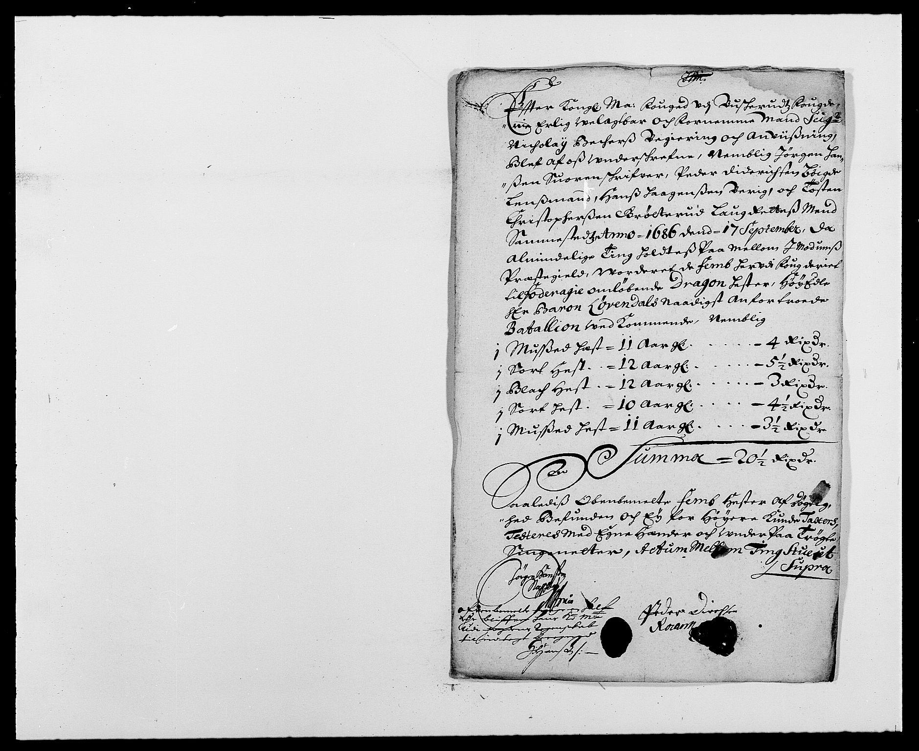 RA, Rentekammeret inntil 1814, Reviderte regnskaper, Fogderegnskap, R25/L1678: Fogderegnskap Buskerud, 1685-1686, s. 368