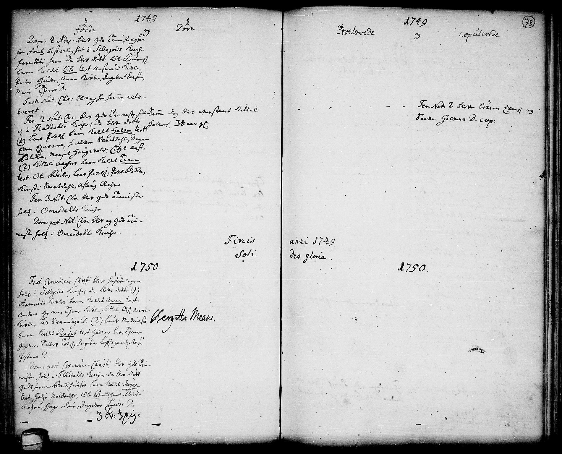 SAKO, Seljord kirkebøker, F/Fa/L0006: Ministerialbok nr. I 6, 1744-1755, s. 78