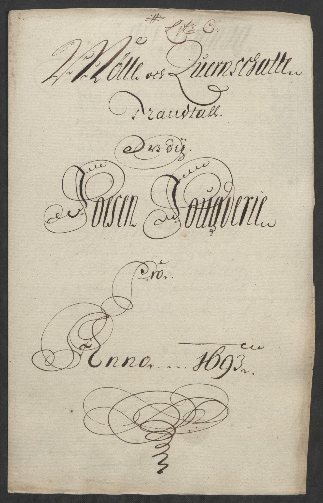 RA, Rentekammeret inntil 1814, Reviderte regnskaper, Fogderegnskap, R57/L3849: Fogderegnskap Fosen, 1692-1693, s. 448