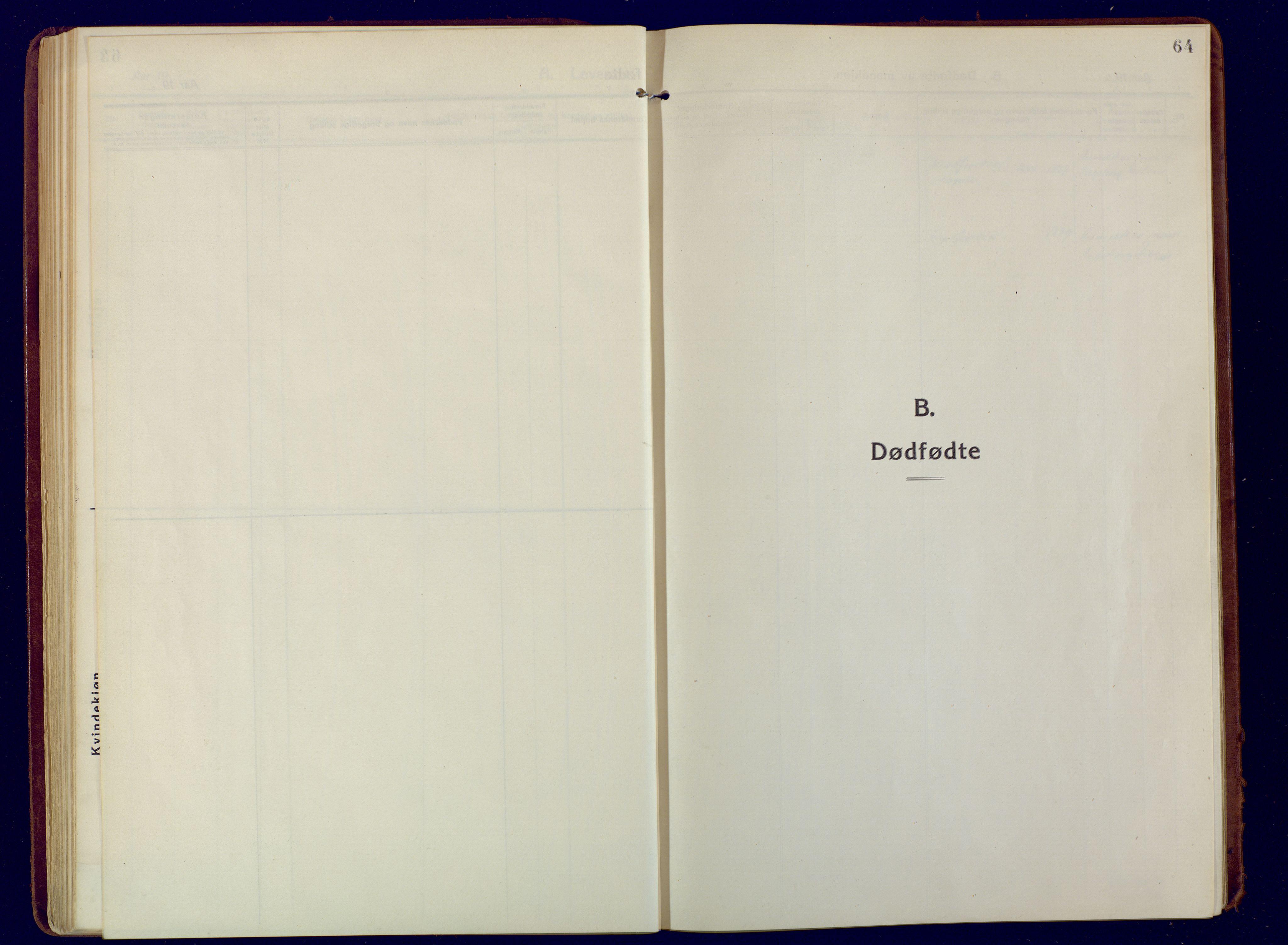 SATØ, Mefjord/Berg sokneprestkontor, G/Ga/Gaa: Ministerialbok nr. 9, 1916-1928, s. 64