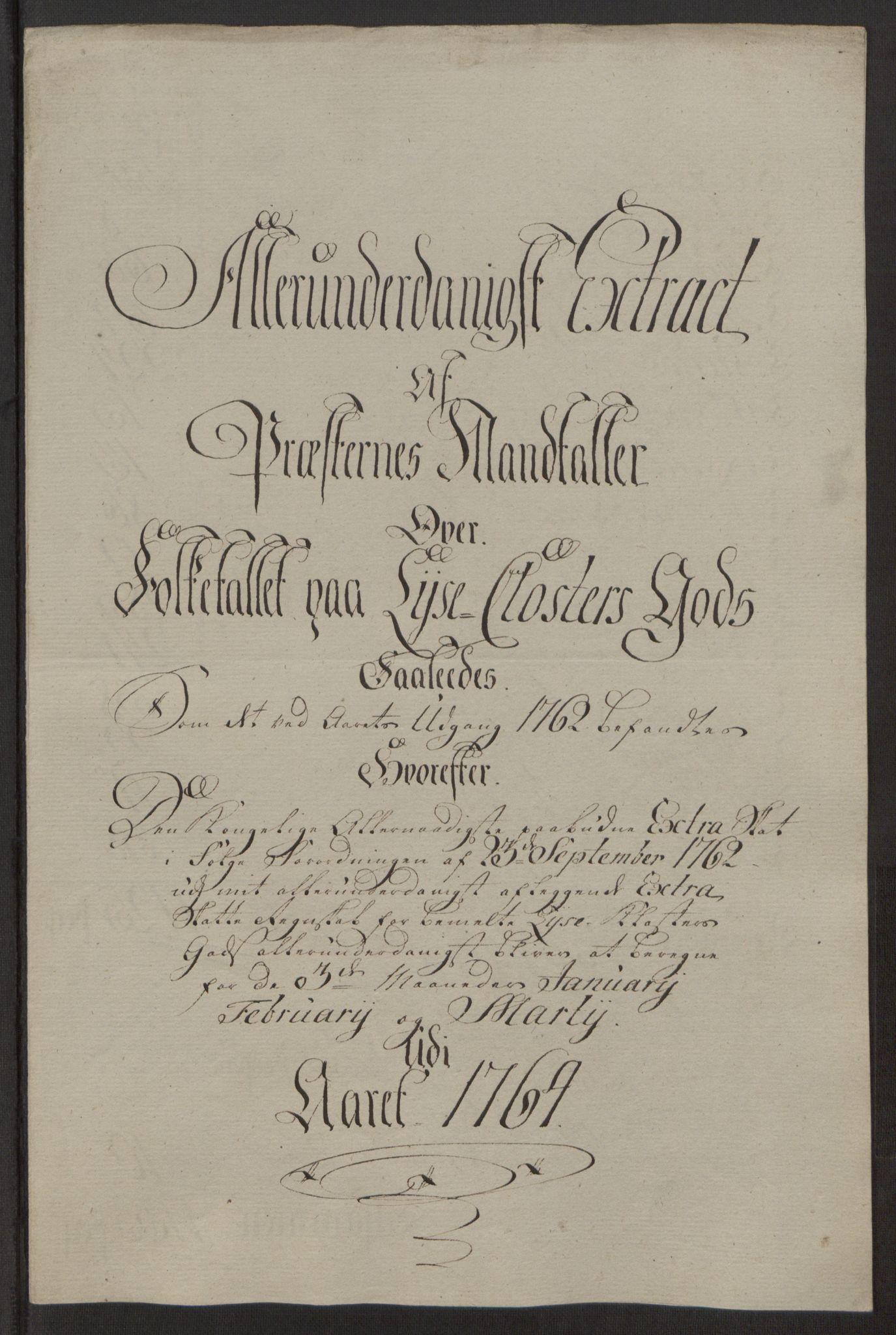 RA, Rentekammeret inntil 1814, Reviderte regnskaper, Fogderegnskap, R50/L3180: Ekstraskatten Lyse kloster, 1762-1783, s. 92