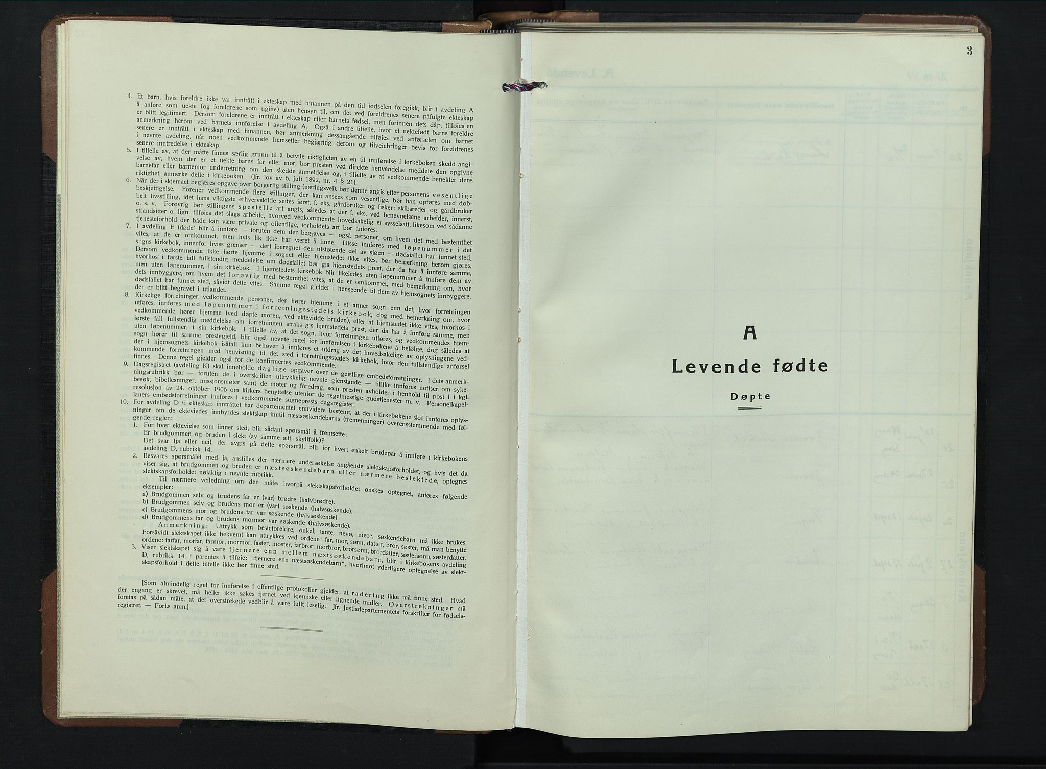 SAH, Brandbu prestekontor, Klokkerbok nr. 2, 1937-1953, s. 3