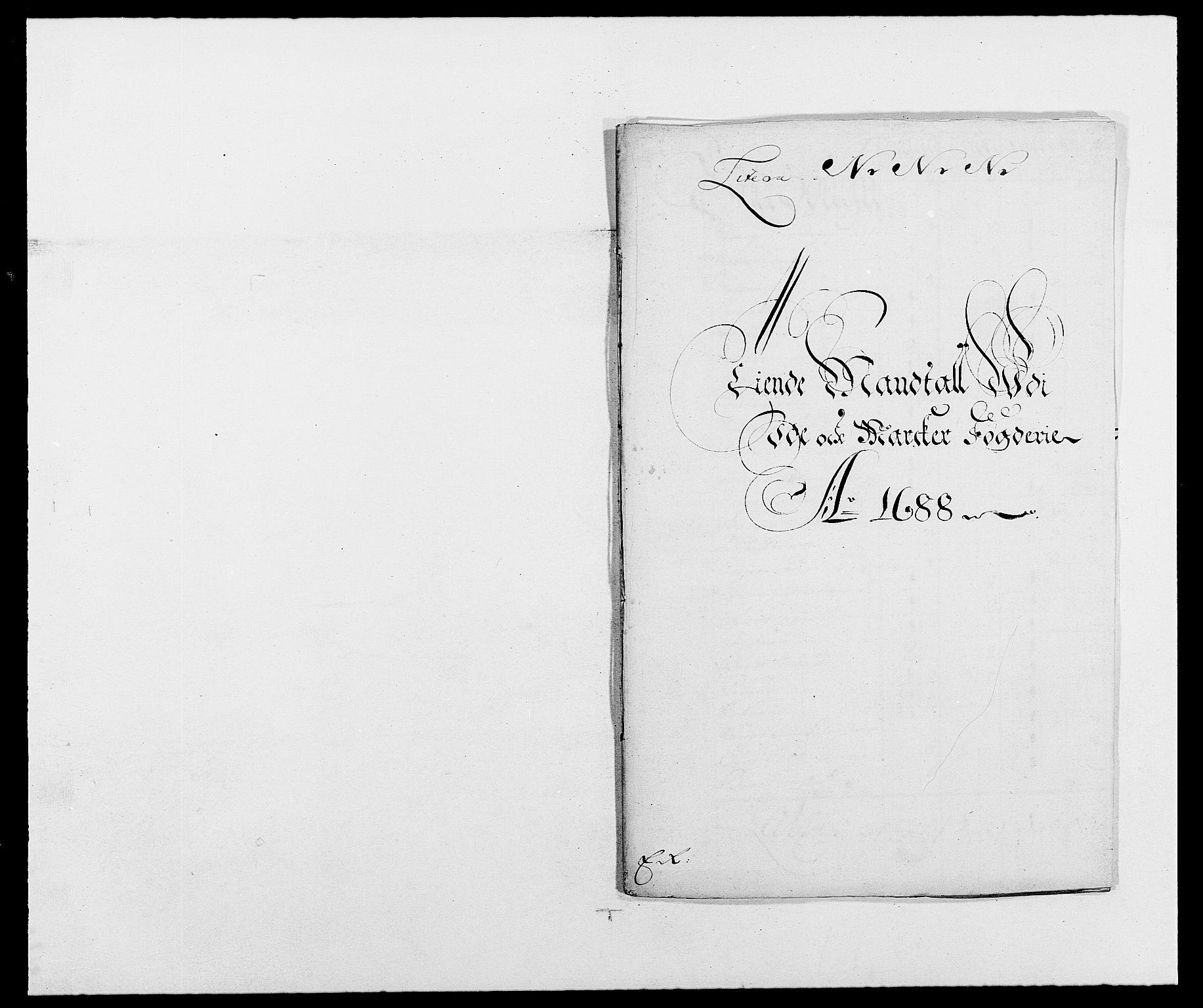 RA, Rentekammeret inntil 1814, Reviderte regnskaper, Fogderegnskap, R01/L0007: Fogderegnskap Idd og Marker, 1687-1688, s. 261