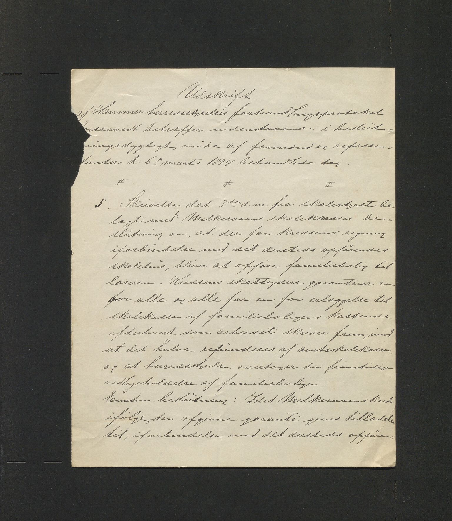 IKAH, Hamre kommune. Formannskapet, D/Db/L0018: Skulekrinsar, skulehus, leikeplassar, lærarbustader, 1894-1897