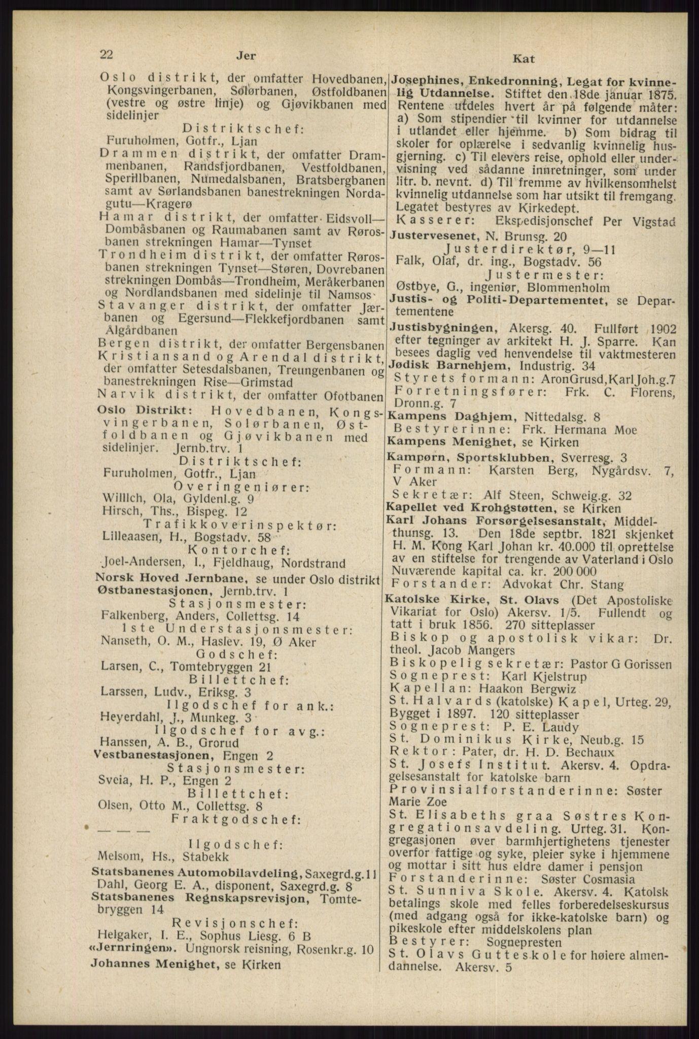 RA, Oslo adressebok (publikasjon)*, 1934, s. 22