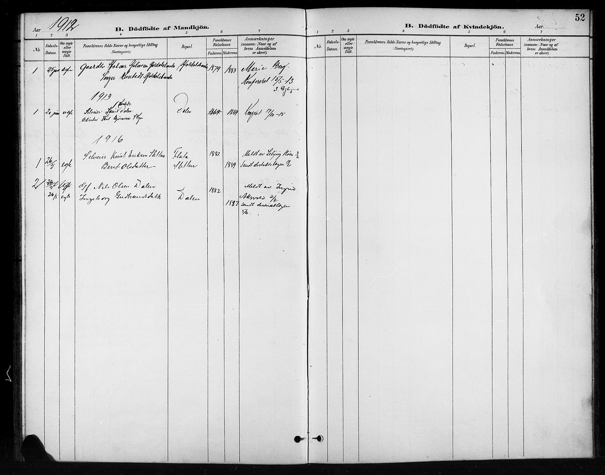 SAH, Nord-Aurdal prestekontor, Klokkerbok nr. 11, 1897-1918, s. 52