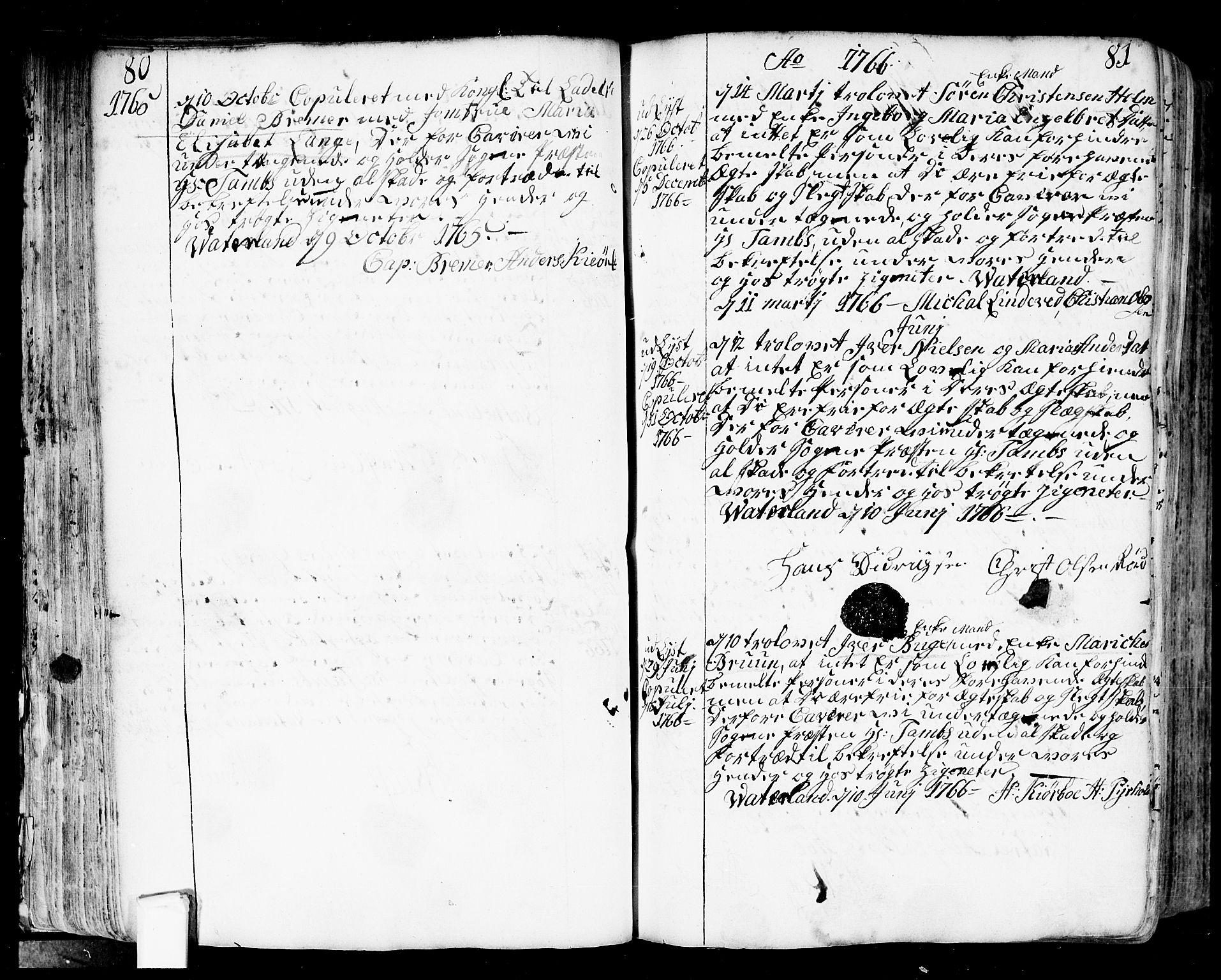 SAO, Fredrikstad prestekontor Kirkebøker, F/Fa/L0002: Ministerialbok nr. 2, 1750-1804, s. 80-81
