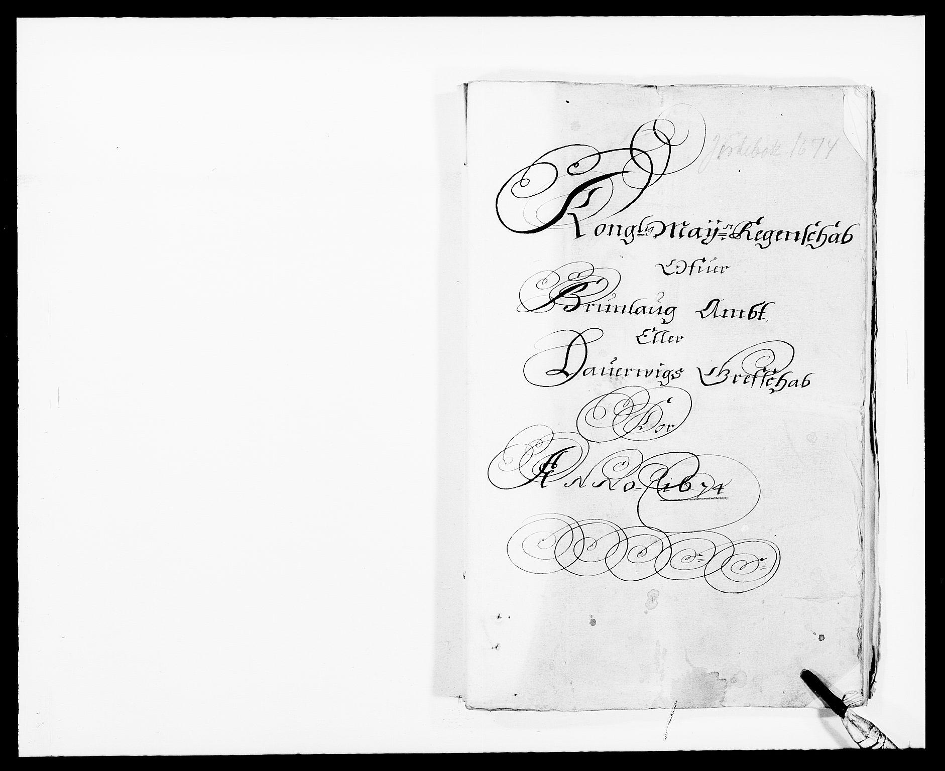RA, Rentekammeret inntil 1814, Reviderte regnskaper, Fogderegnskap, R33/L1966: Fogderegnskap Larvik grevskap, 1672-1674, s. 164