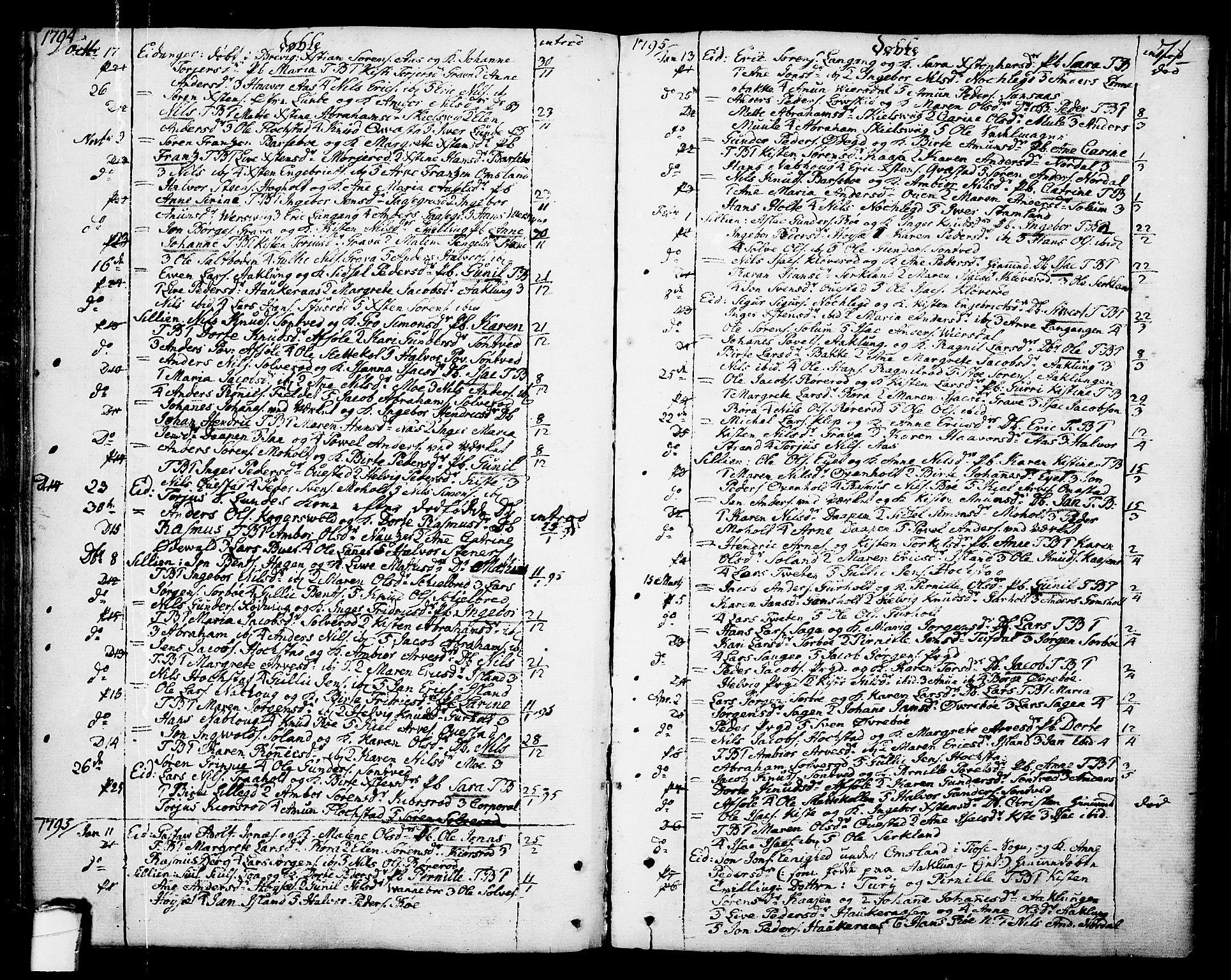 SAKO, Eidanger kirkebøker, F/Fa/L0006: Ministerialbok nr. 6, 1764-1814, s. 71