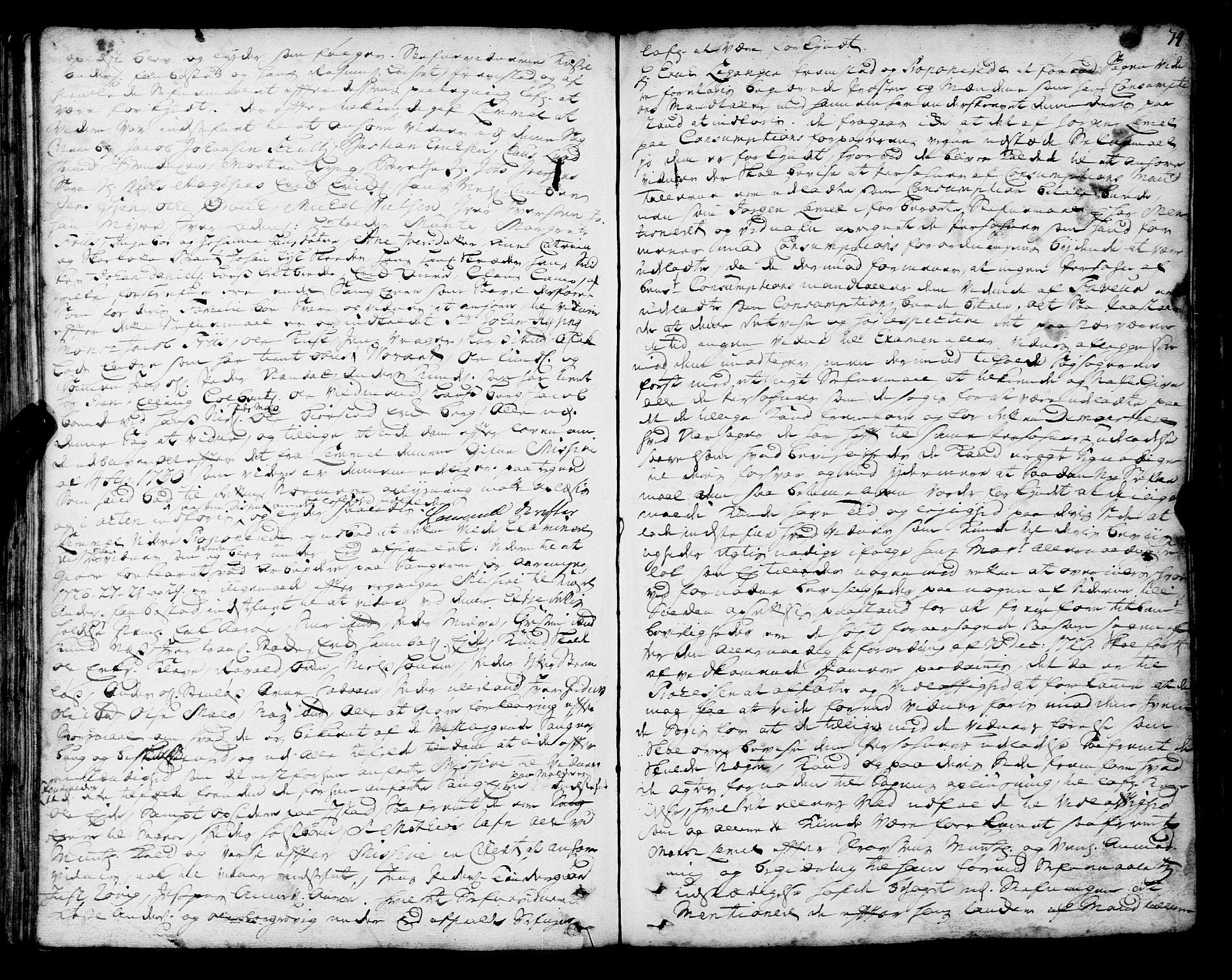 SAT, Romsdal sorenskriveri, 1/1A/L0010: Tingbok, 1728-1732, s. 74