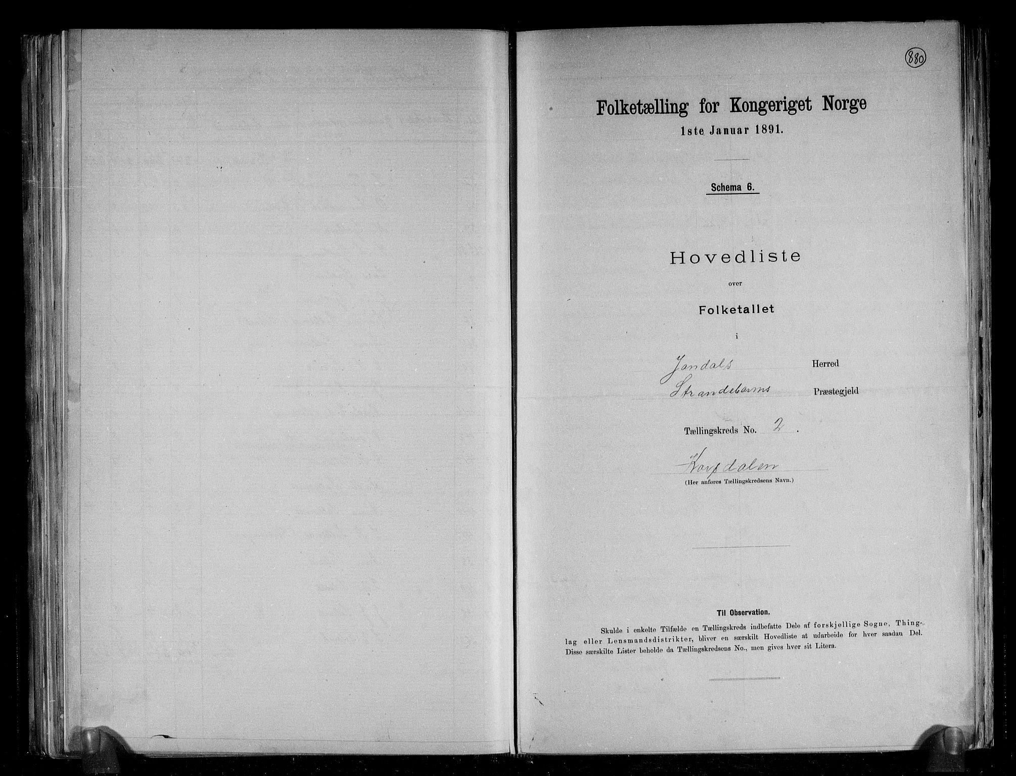 RA, Folketelling 1891 for 1227 Jondal herred, 1891, s. 7