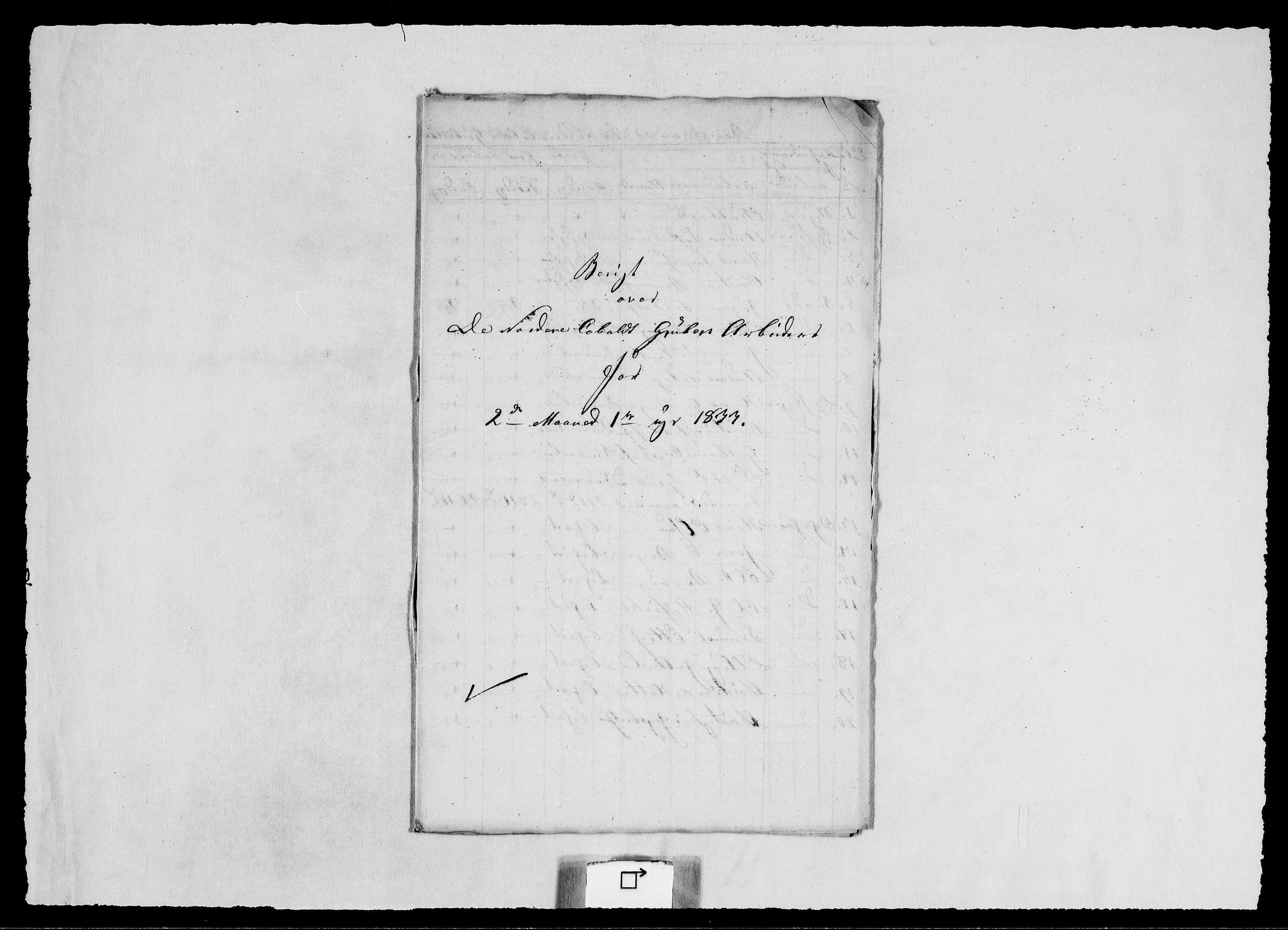 RA, Modums Blaafarveværk, G/Ge/L0342, 1833, s. 2