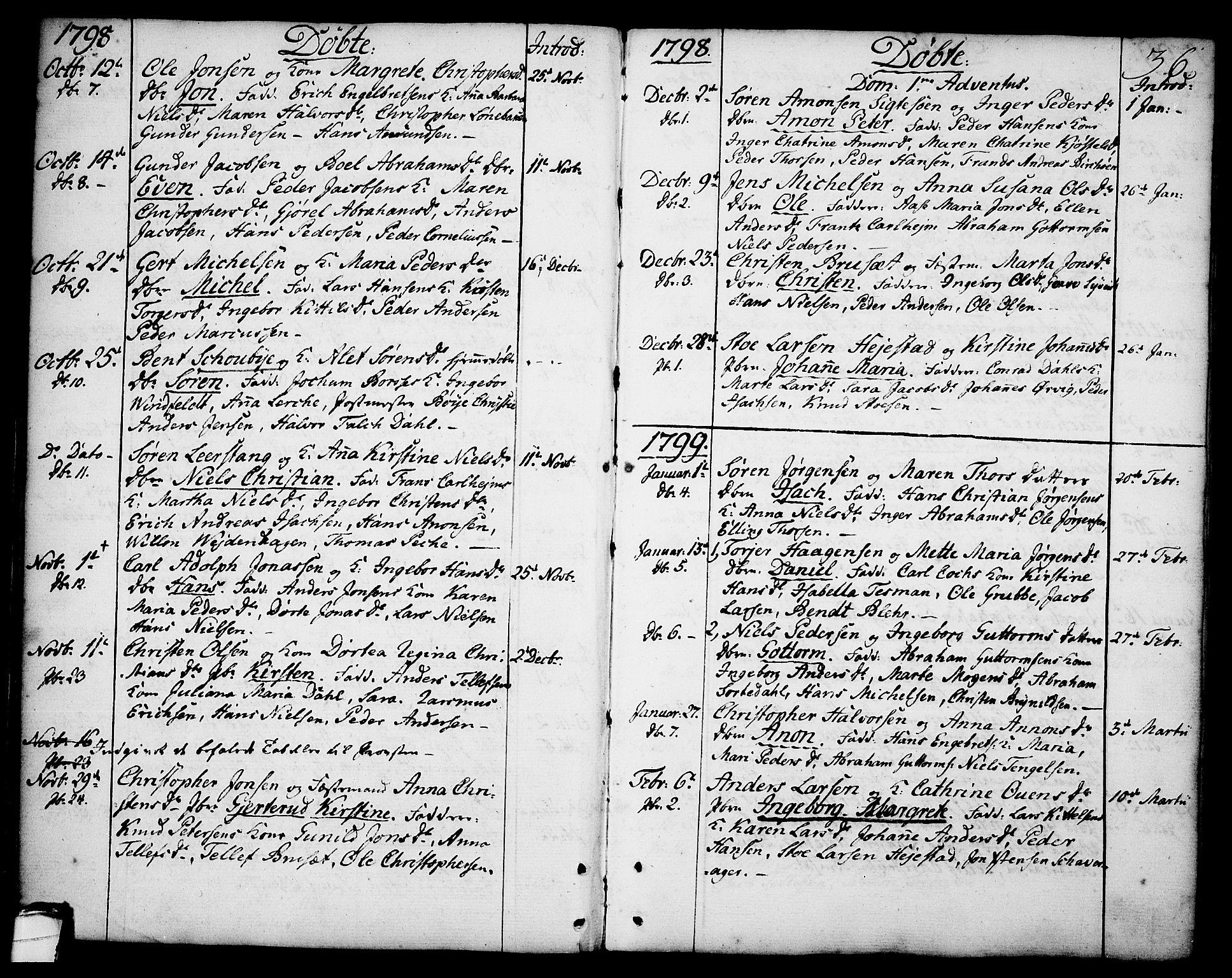SAKO, Brevik kirkebøker, F/Fa/L0003: Ministerialbok nr. 3, 1764-1814, s. 36