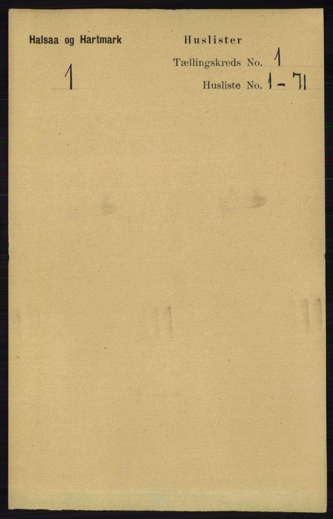 RA, Folketelling 1891 for 1019 Halse og Harkmark herred, 1891, s. 25