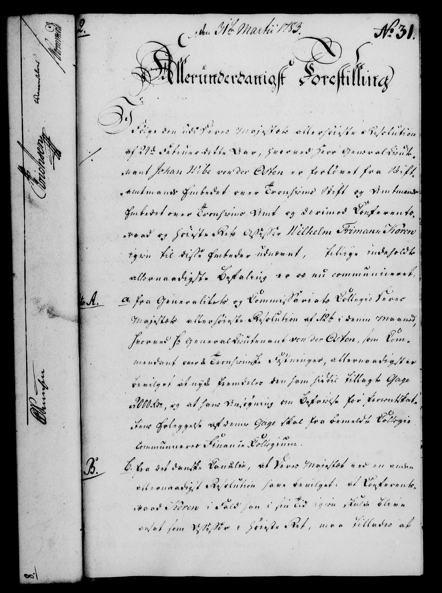 RA, Rentekammeret, Kammerkanselliet, G/Gf/Gfa/L0065: Norsk relasjons- og resolusjonsprotokoll (merket RK 52.65), 1783, s. 218