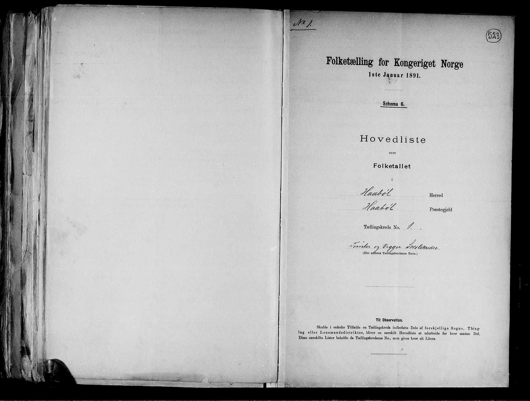 RA, Folketelling 1891 for 0138 Hobøl herred, 1891, s. 4