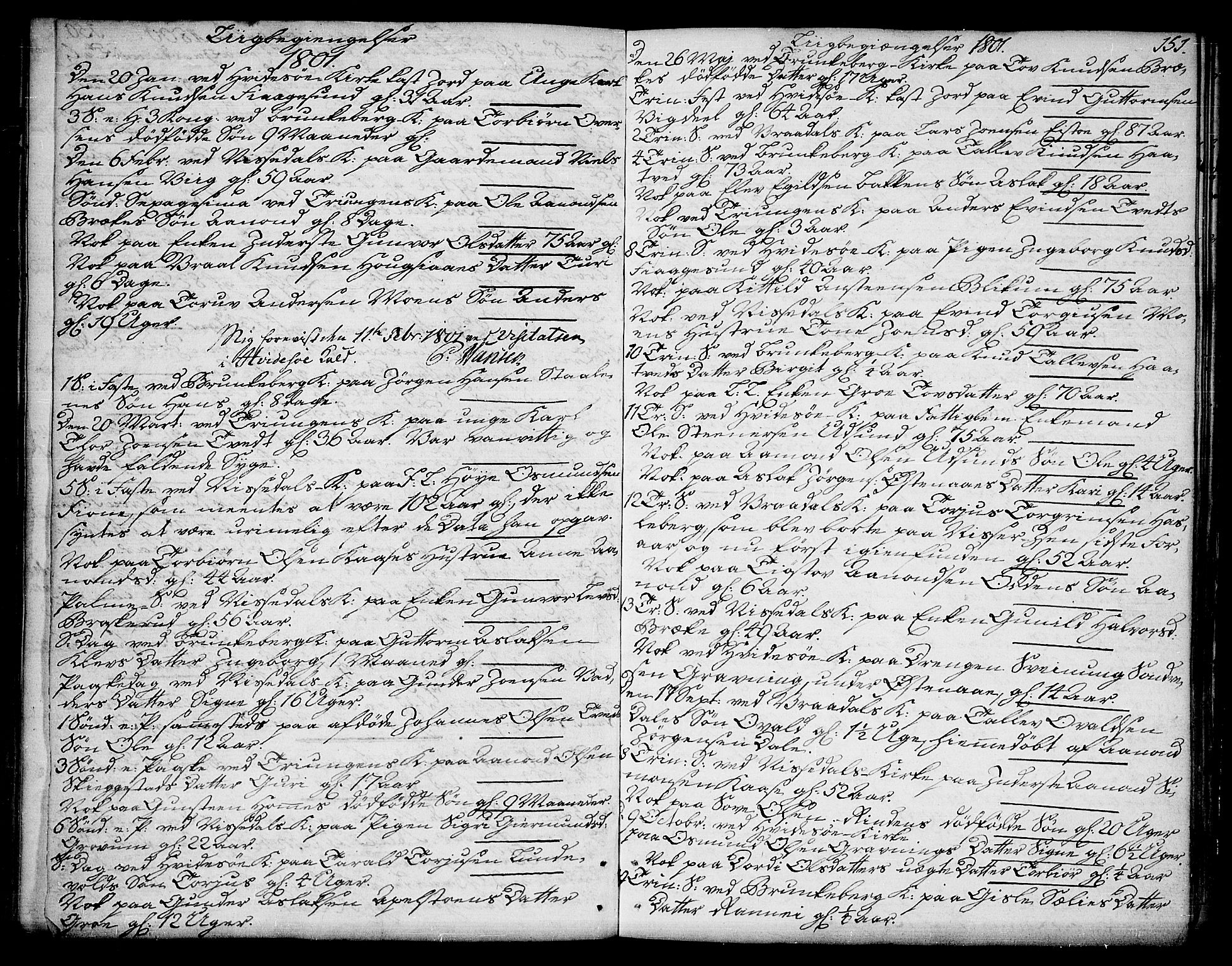 SAKO, Kviteseid kirkebøker, F/Fa/L0004: Ministerialbok nr. I 4, 1800-1814, s. 151