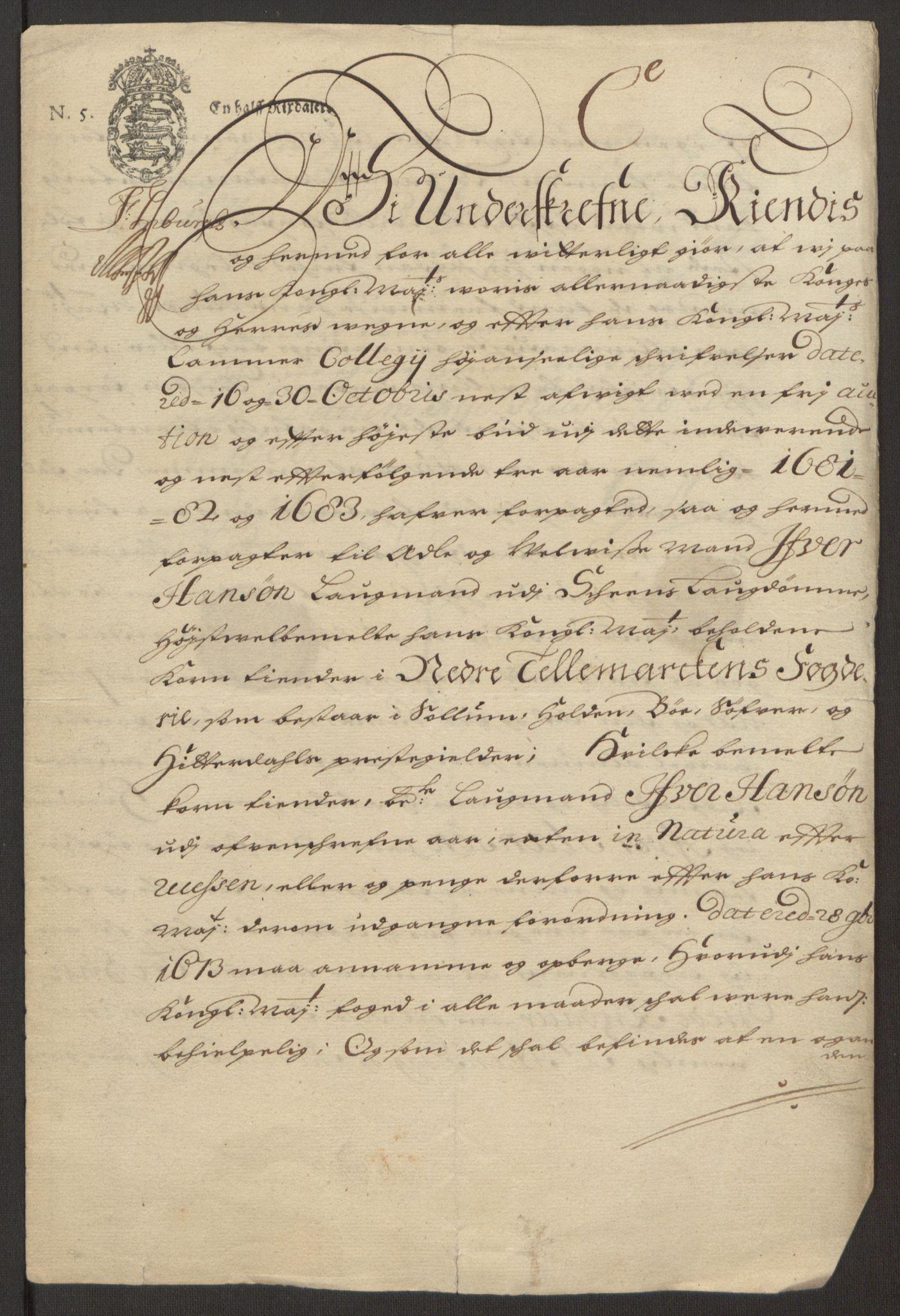 RA, Rentekammeret inntil 1814, Reviderte regnskaper, Fogderegnskap, R35/L2076: Fogderegnskap Øvre og Nedre Telemark, 1680-1684, s. 244