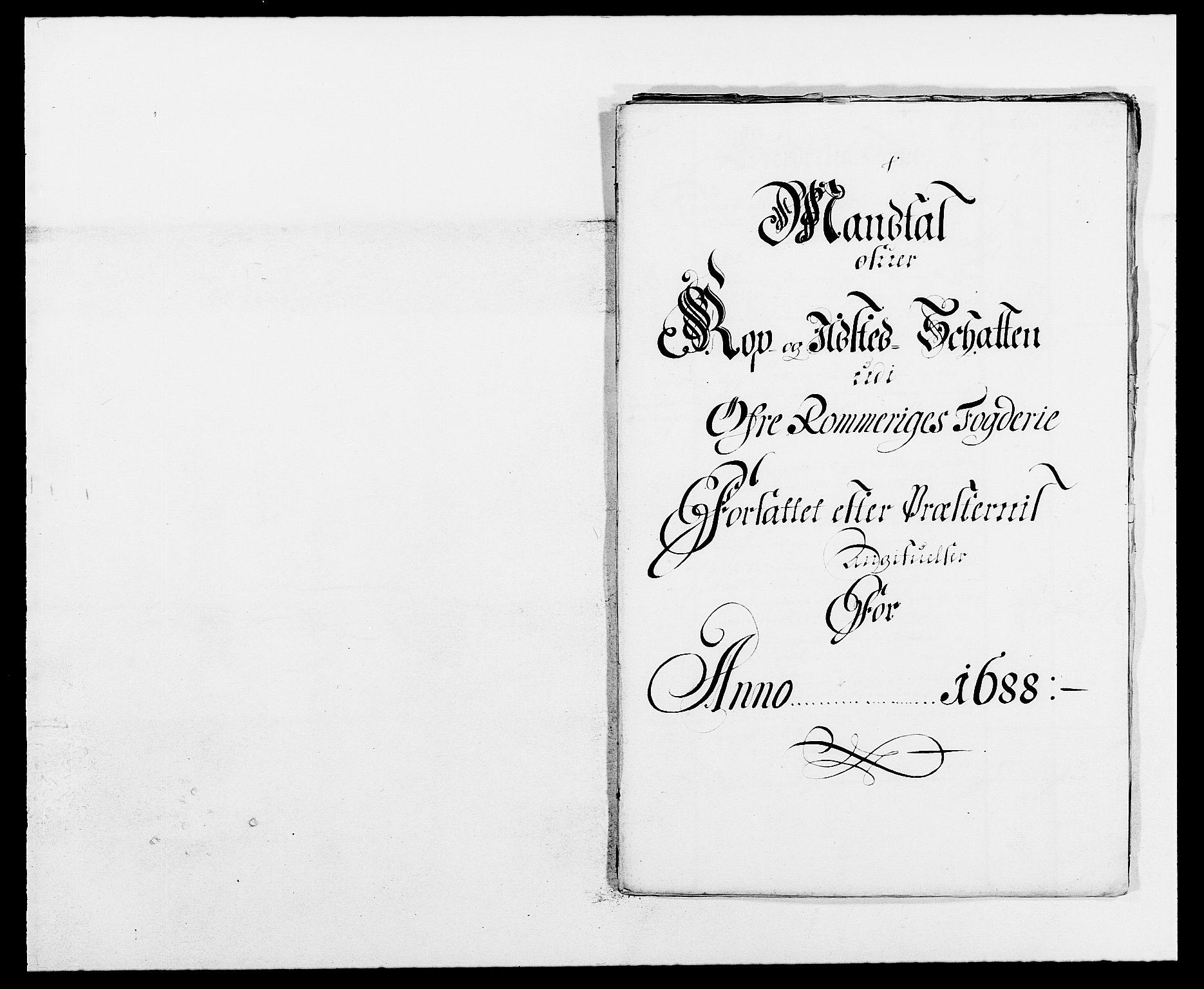 RA, Rentekammeret inntil 1814, Reviderte regnskaper, Fogderegnskap, R12/L0700: Fogderegnskap Øvre Romerike, 1687-1688, s. 406
