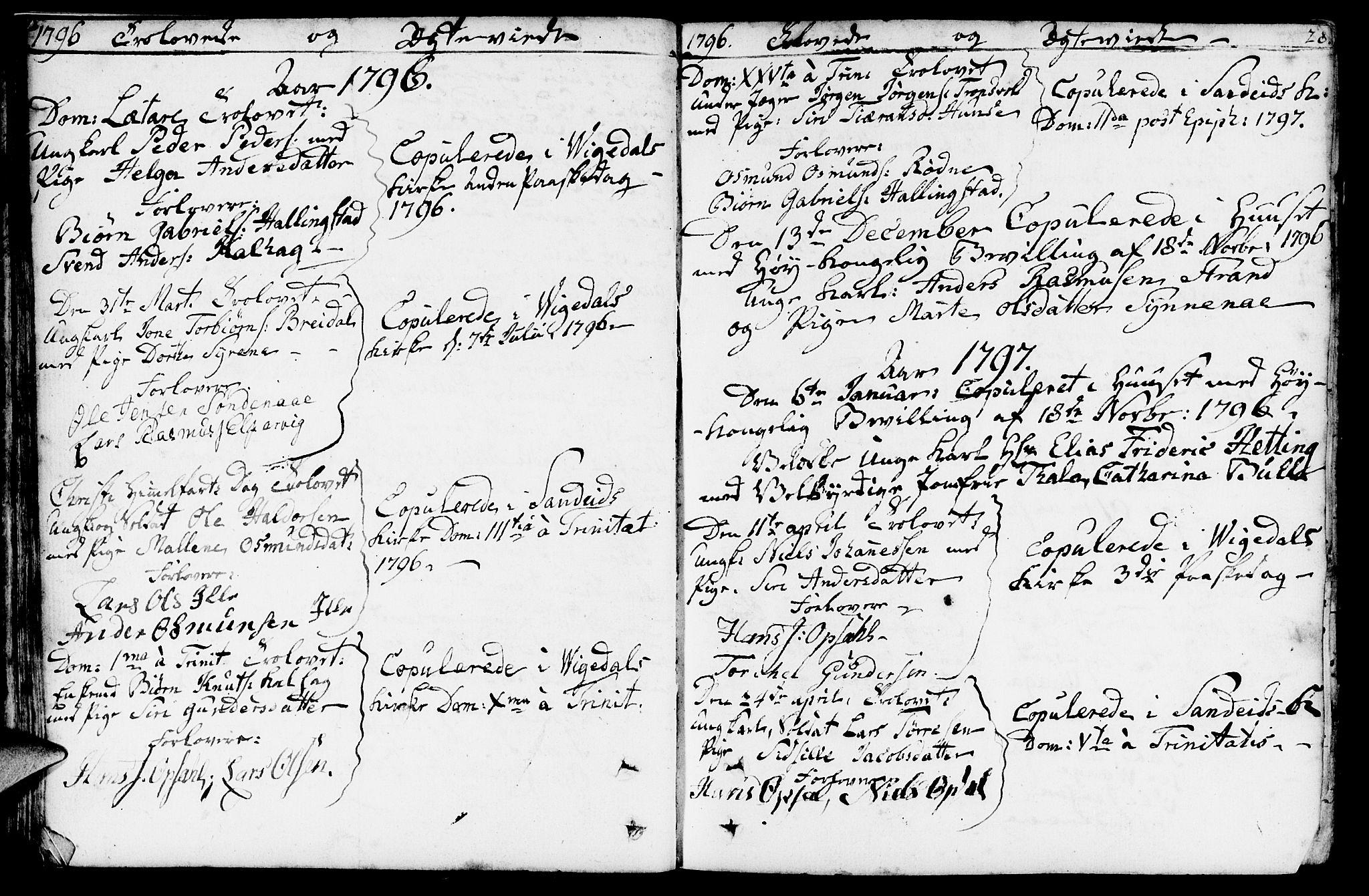 SAST, Vikedal sokneprestkontor, IV: Ministerialbok nr. A 2, 1779-1817, s. 28