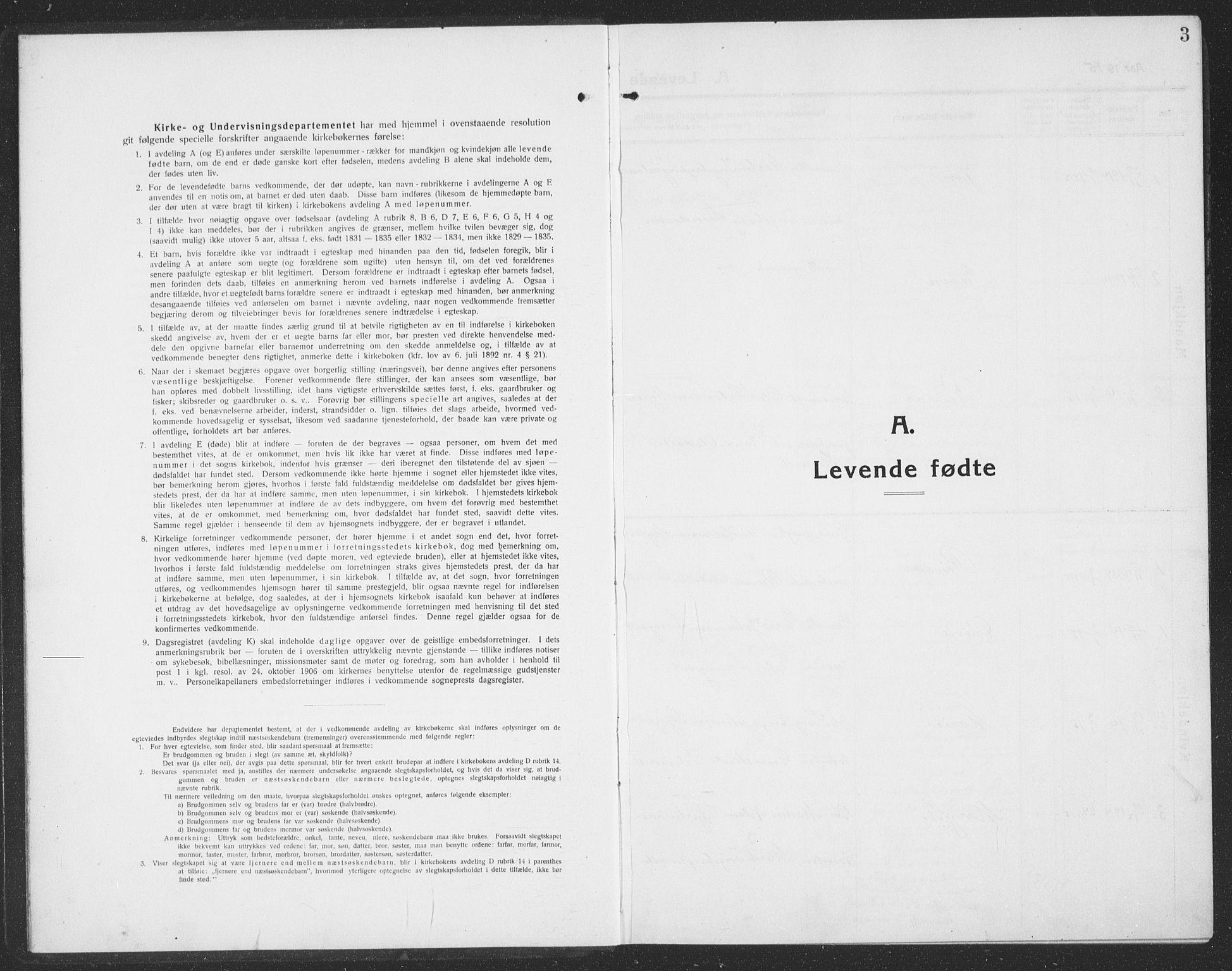 SAT, Ministerialprotokoller, klokkerbøker og fødselsregistre - Sør-Trøndelag, 694/L1134: Klokkerbok nr. 694C06, 1915-1937, s. 3